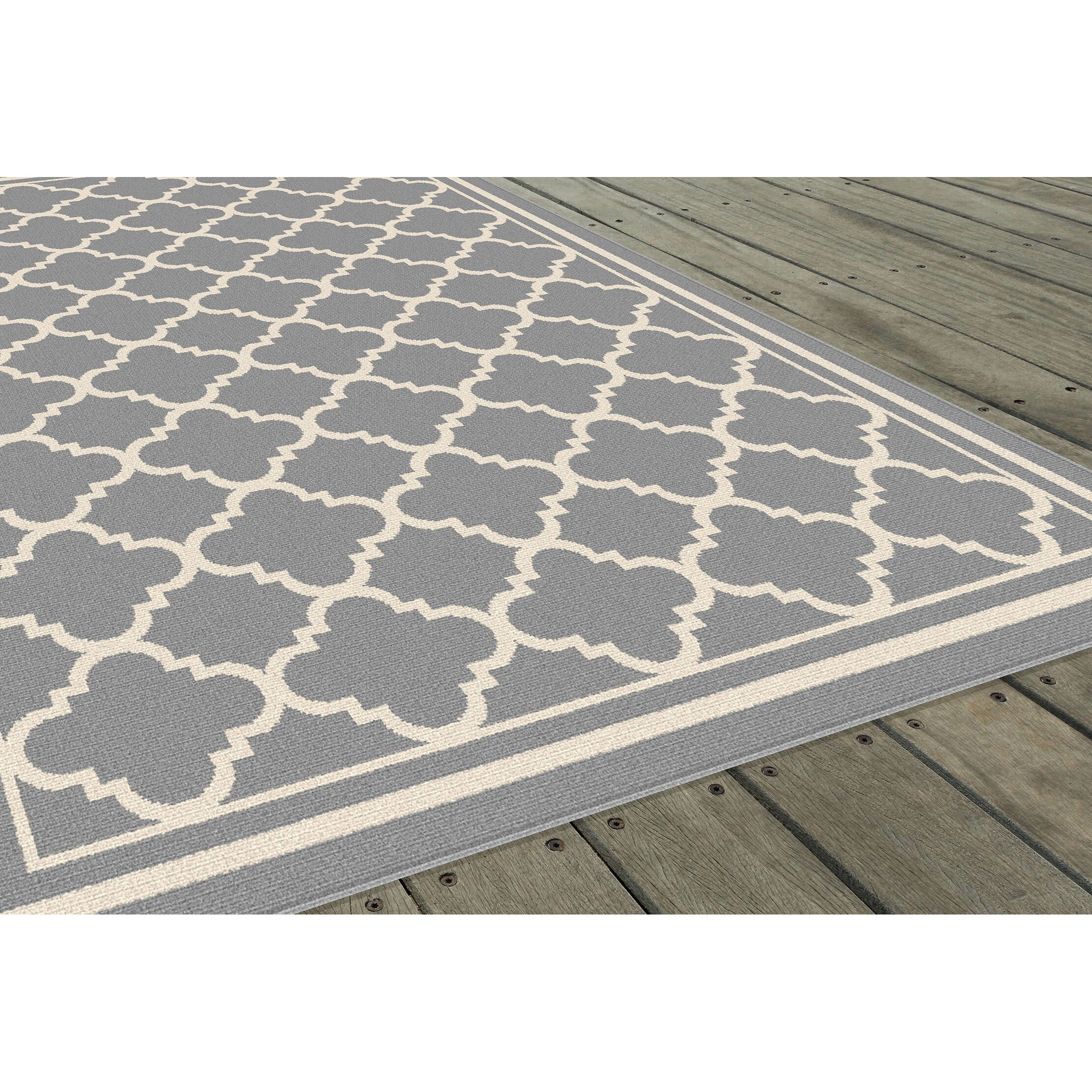 threadbind fairhaven grey indoor outdoor area rug