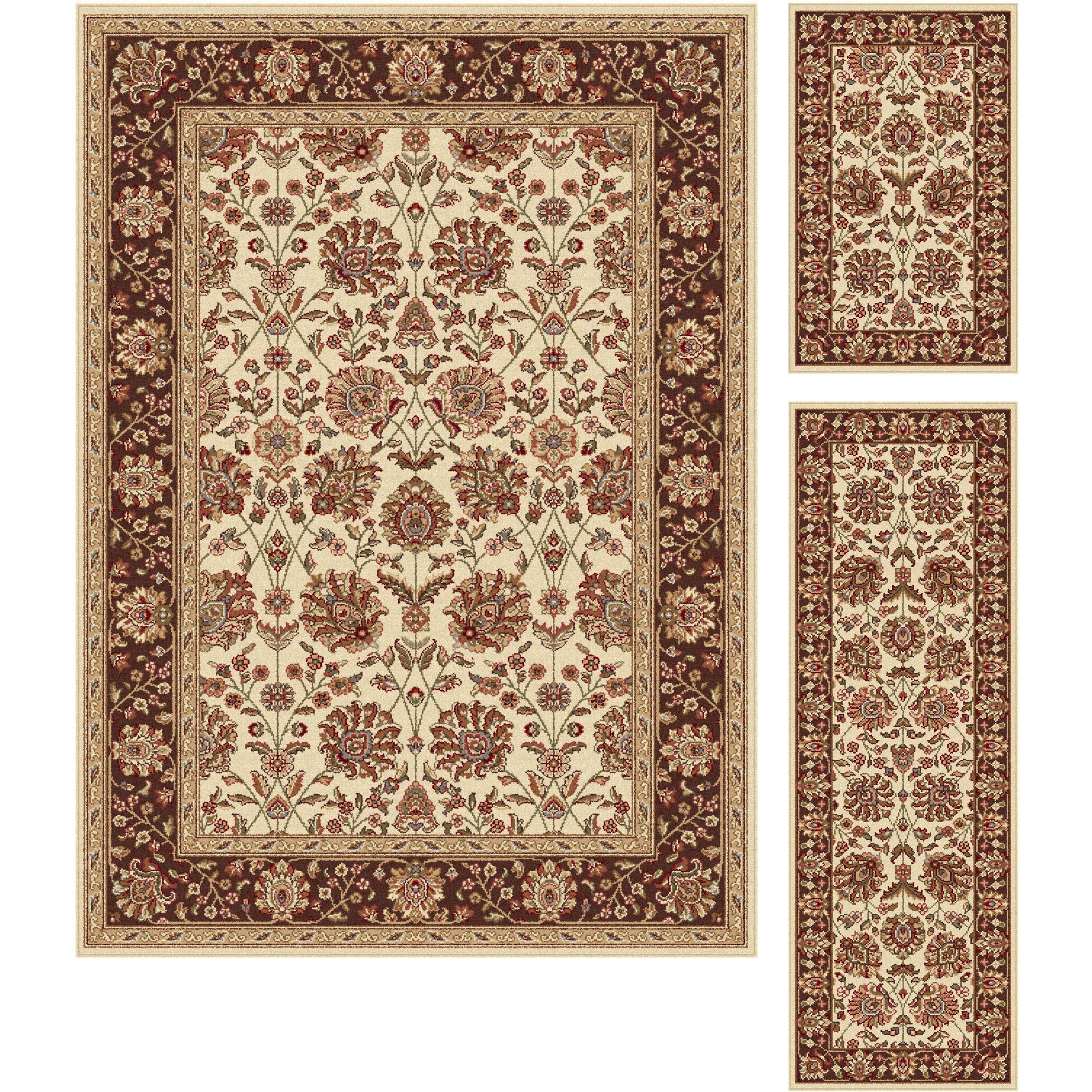 Threadbind litchford 3 piece beige area rug set reviews for Area rug sets