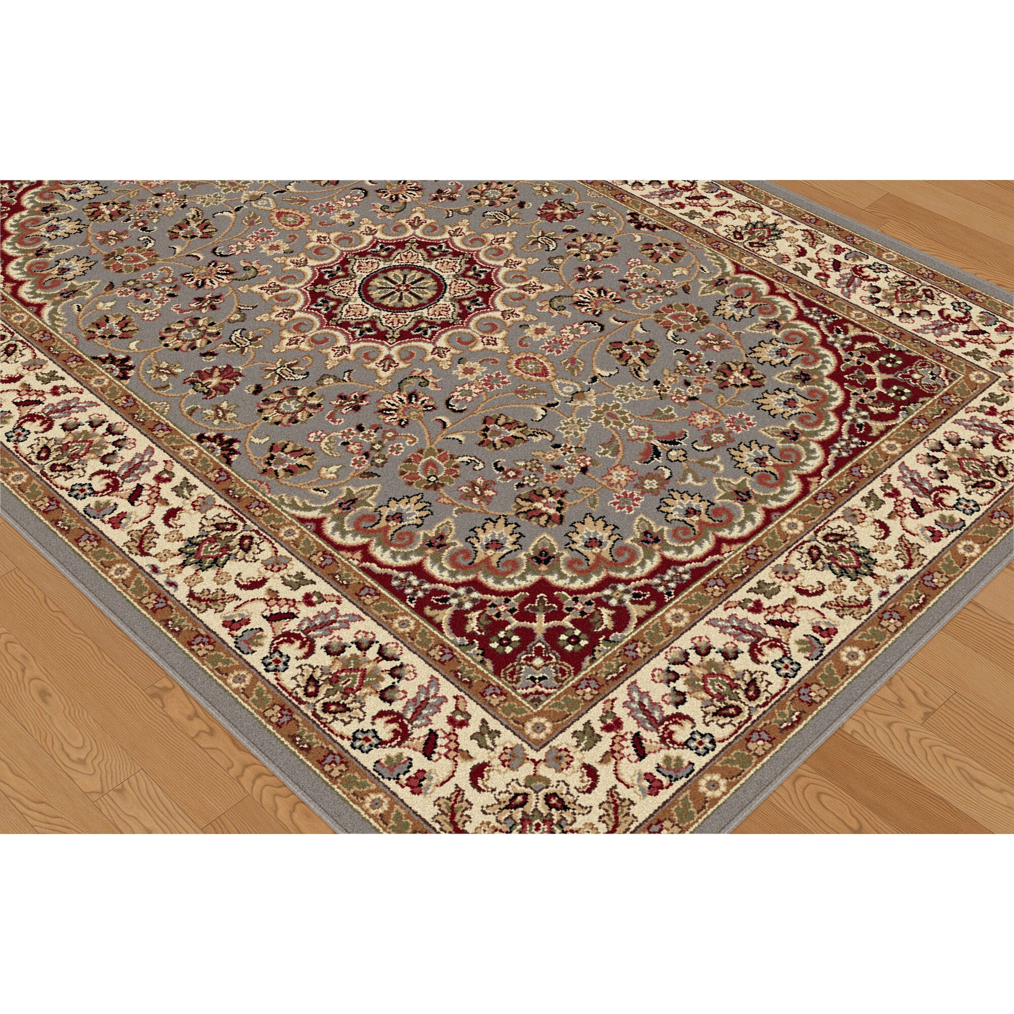 threadbind litchford blue red area rug reviews