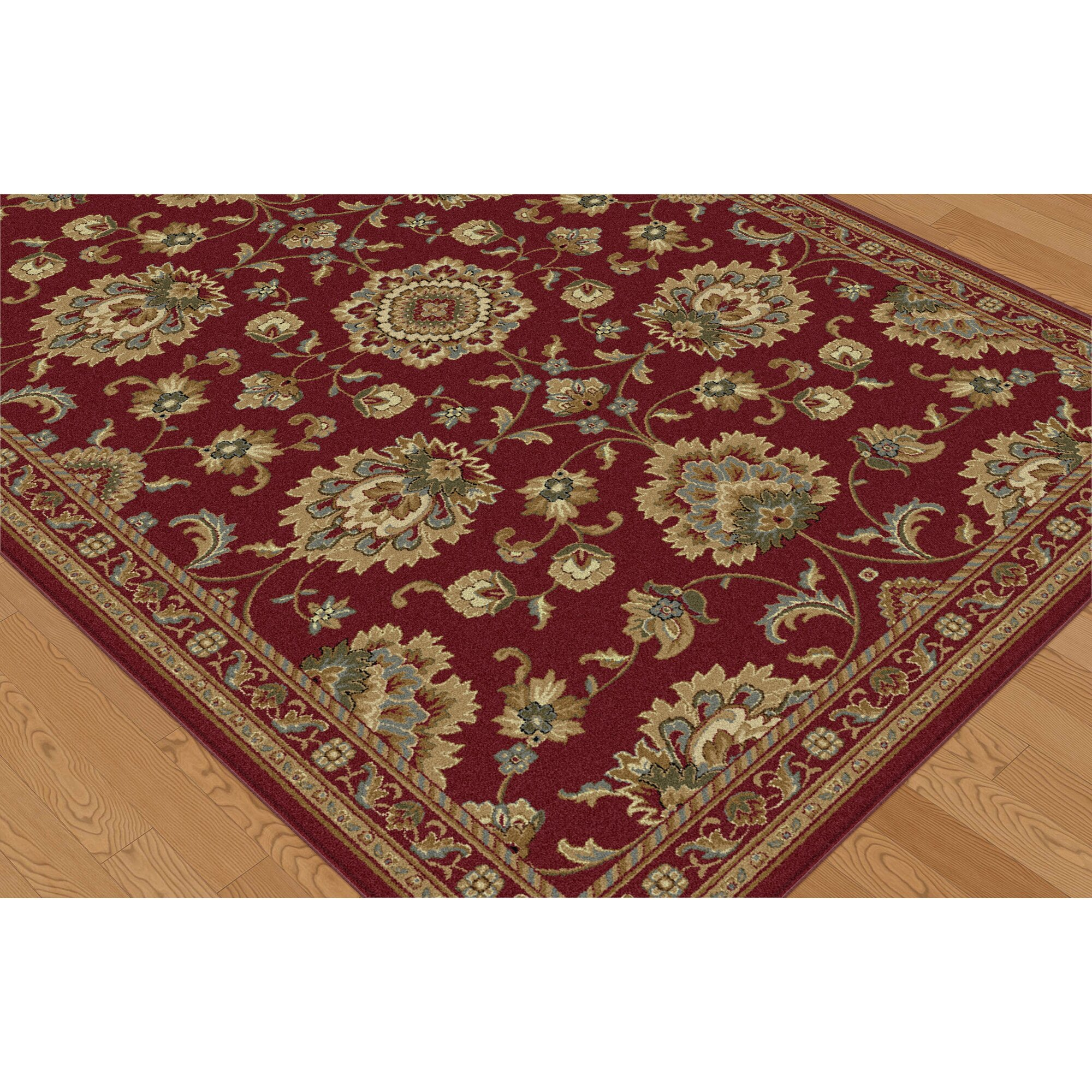 threadbind richmond red area rug reviews wayfair