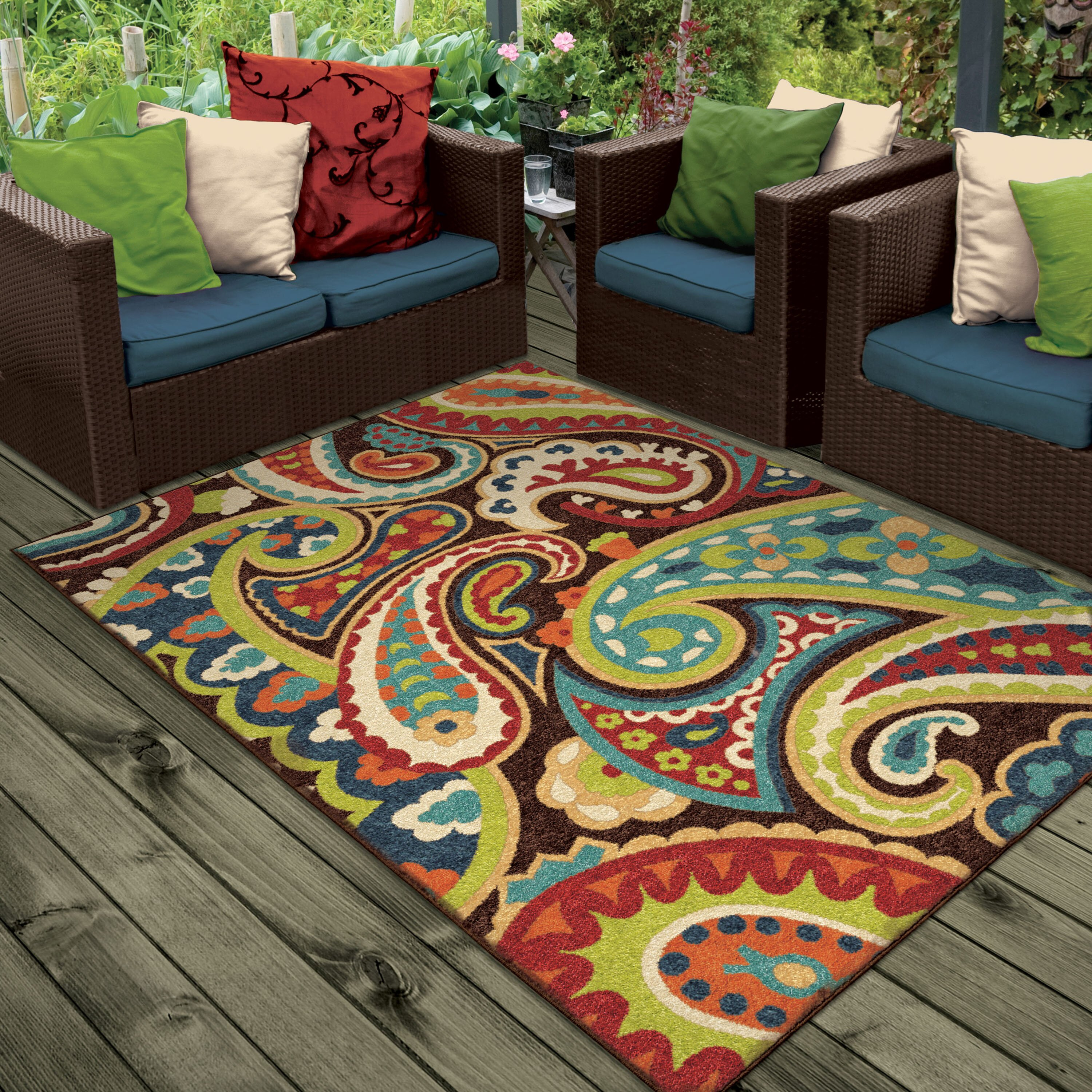 Threadbind Lydia Brown Indoor Outdoor Area Rug Amp Reviews