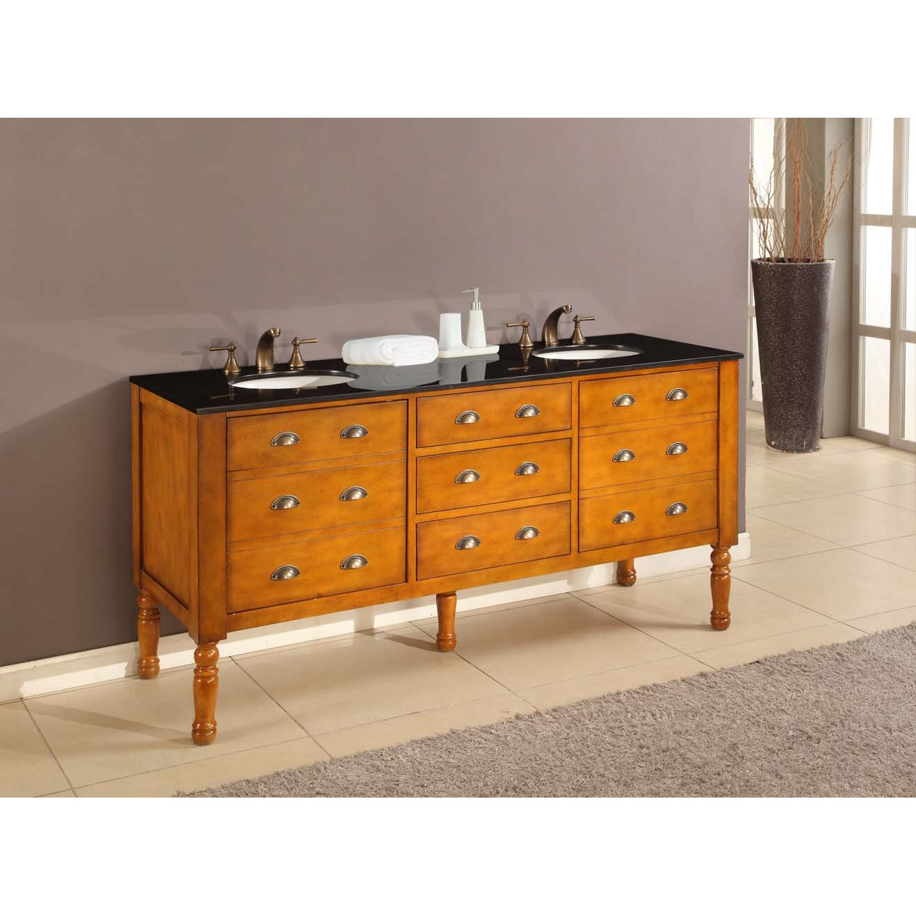 Direct vanity sink harvest 70 double bathroom vanity set wayfair Bathroom sink and vanity sets