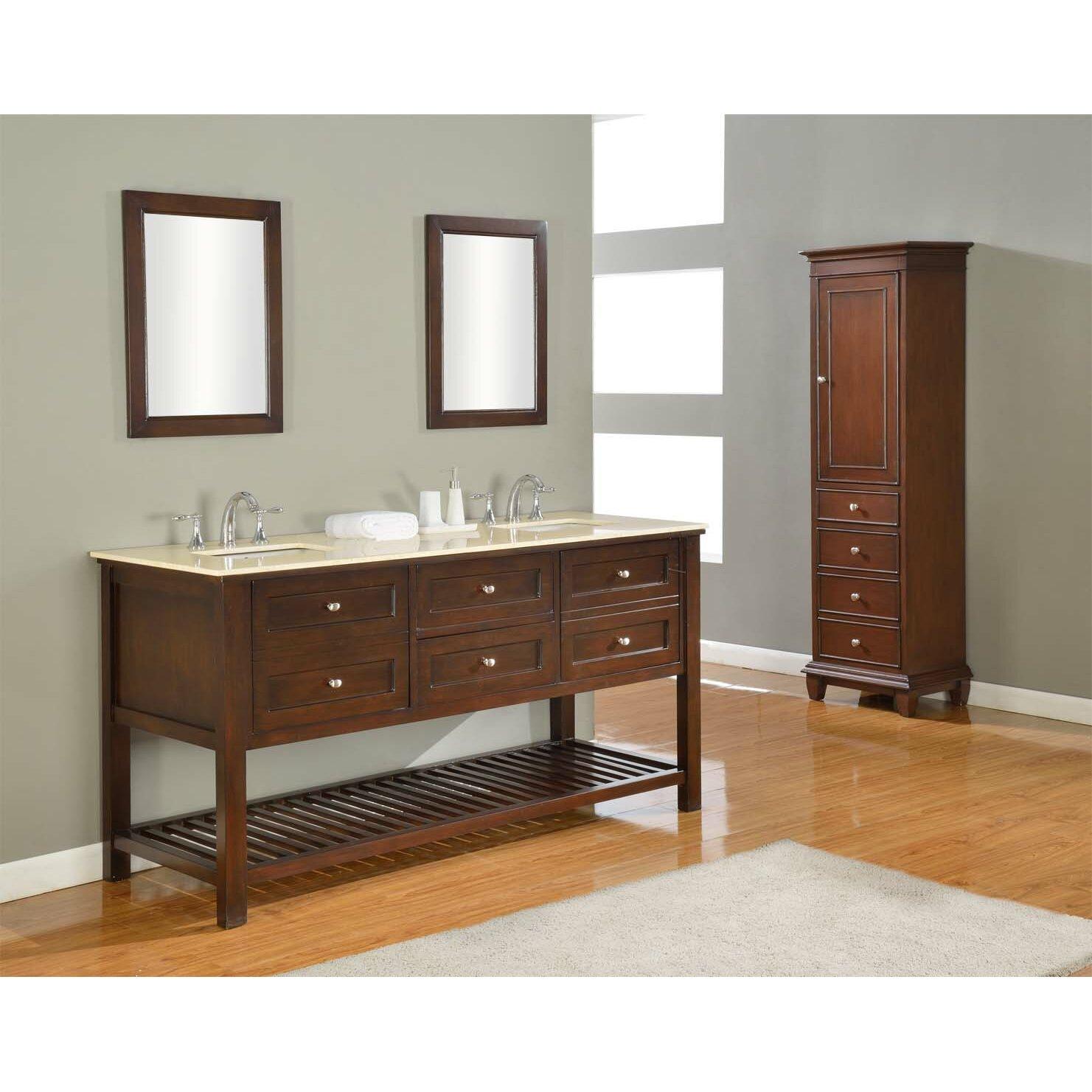 Direct Vanity Sink Mission Spa 70 Double Bathroom Vanity Set Revi