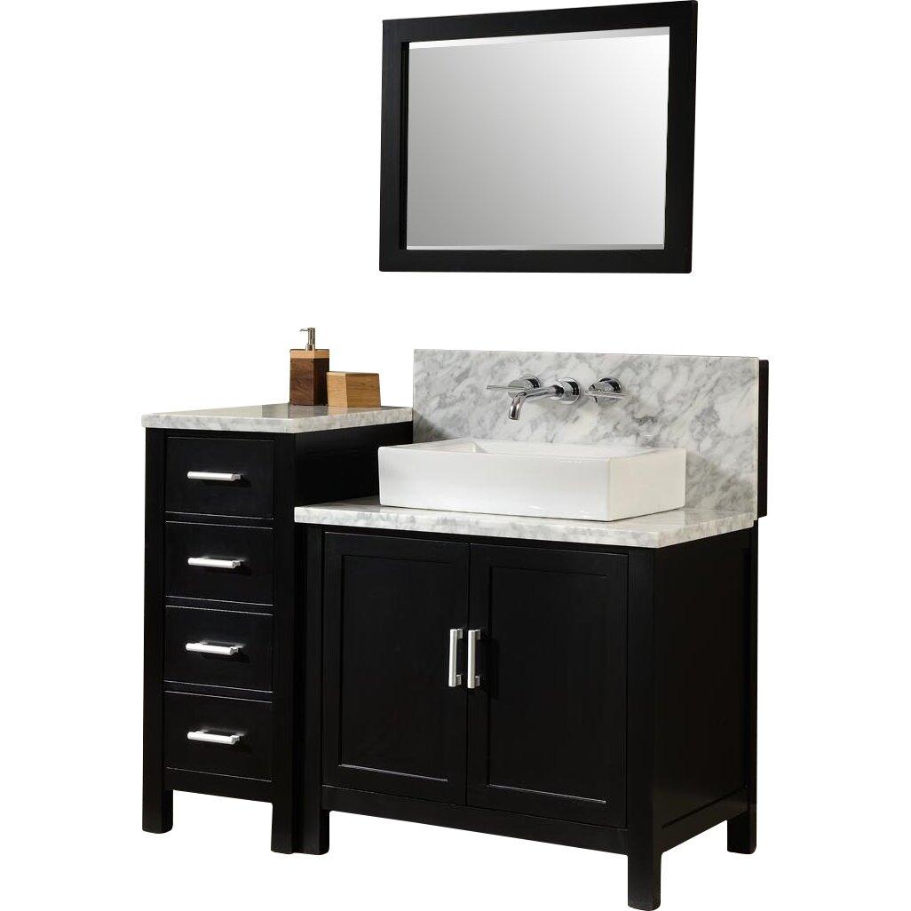 Direct Vanity Sink Horizon 84 Double Premium Bathroom Vanity Set With Mirror Reviews Wayfair
