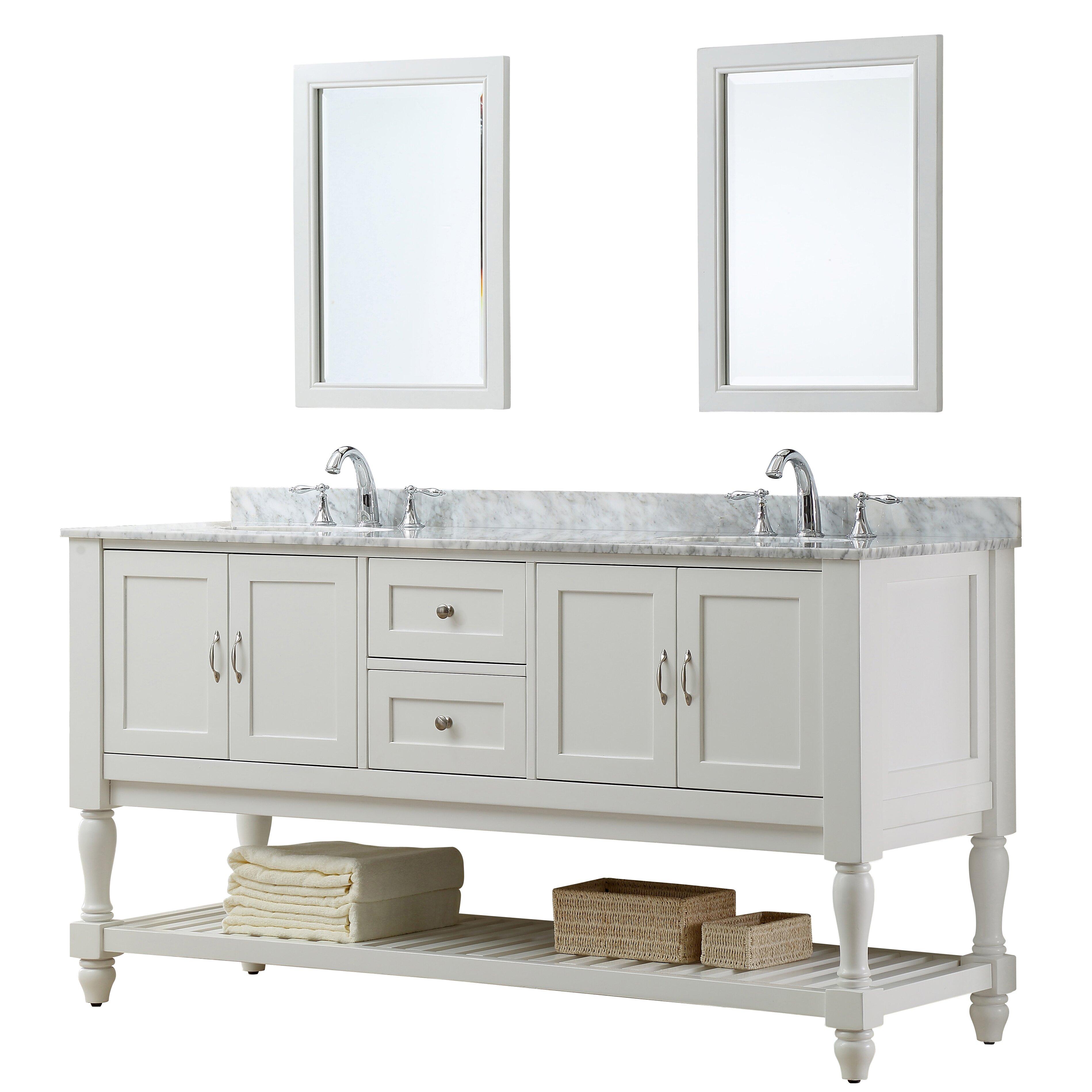 Direct vanity sink mission turnleg 70 double vanity set reviews wayfair for 70 inch bathroom double vanity