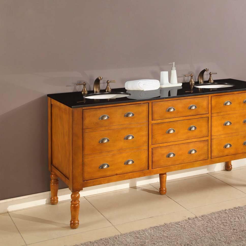 Direct vanity sink harvest 70 double bathroom vanity set wayfair for 70 inch double bathroom vanity