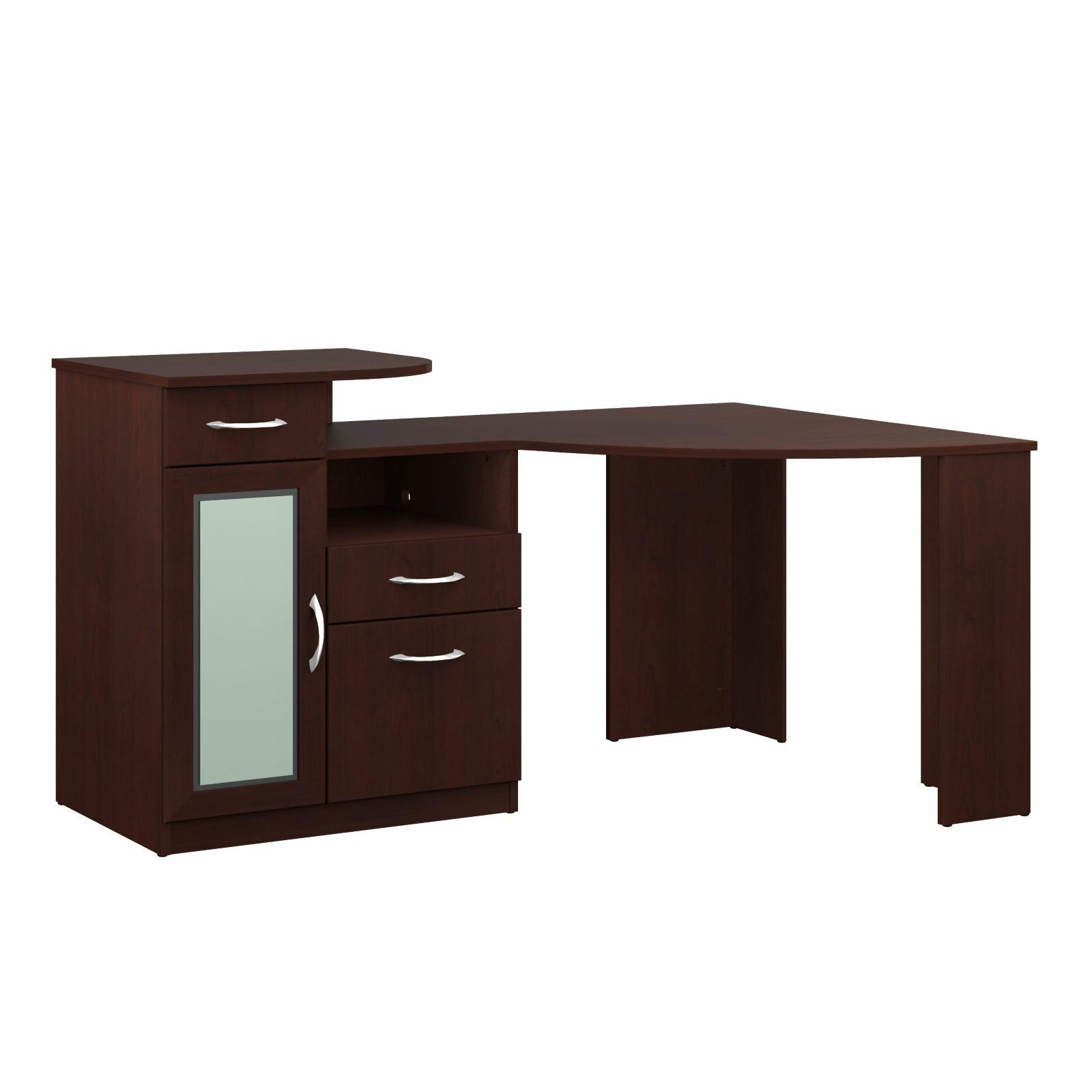 Corner Computer Desk: Latitude Run Wilmot Corner Computer Desk & Reviews