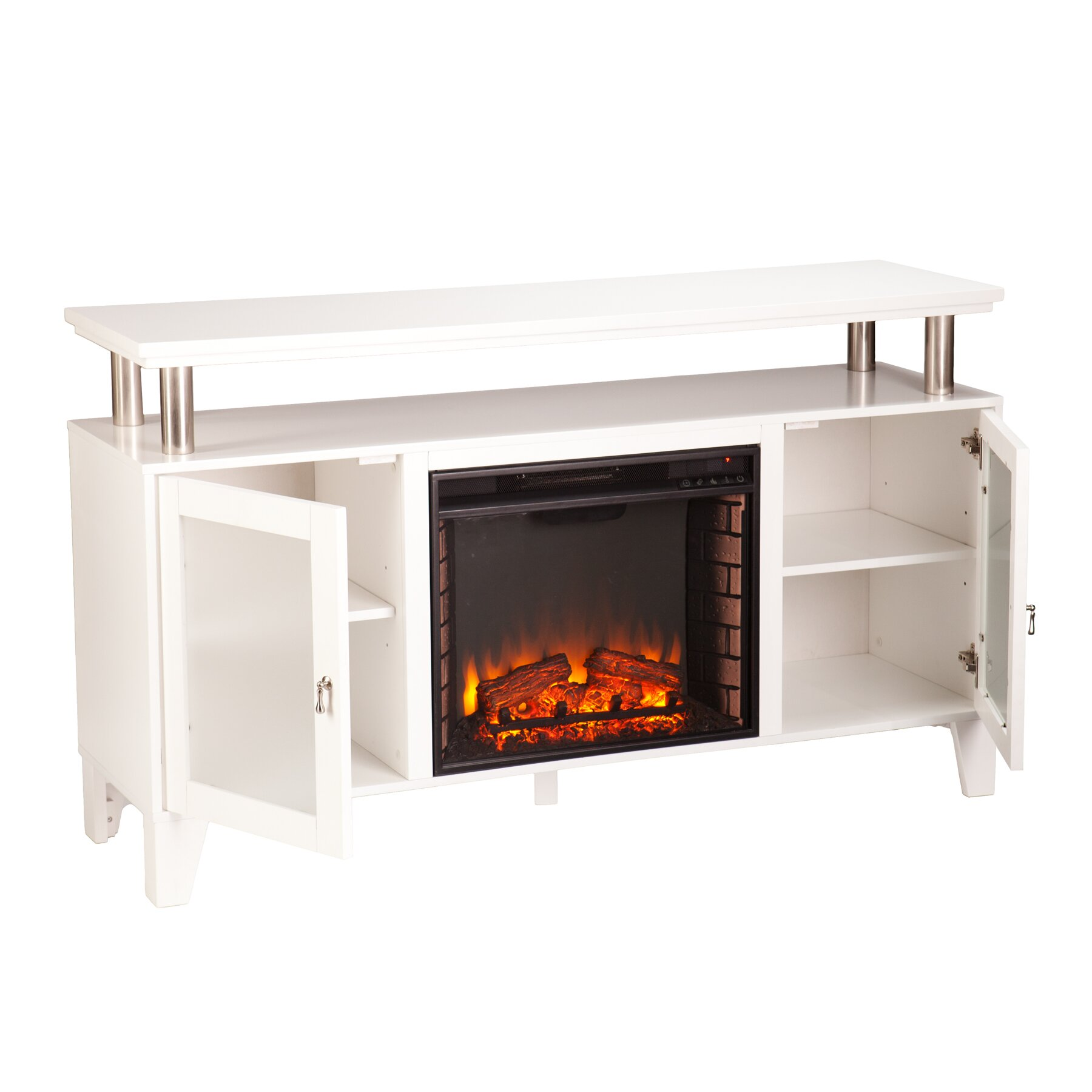 Latitude Run Borovany Tv Stand With Electric Fireplace Reviews Wayfair