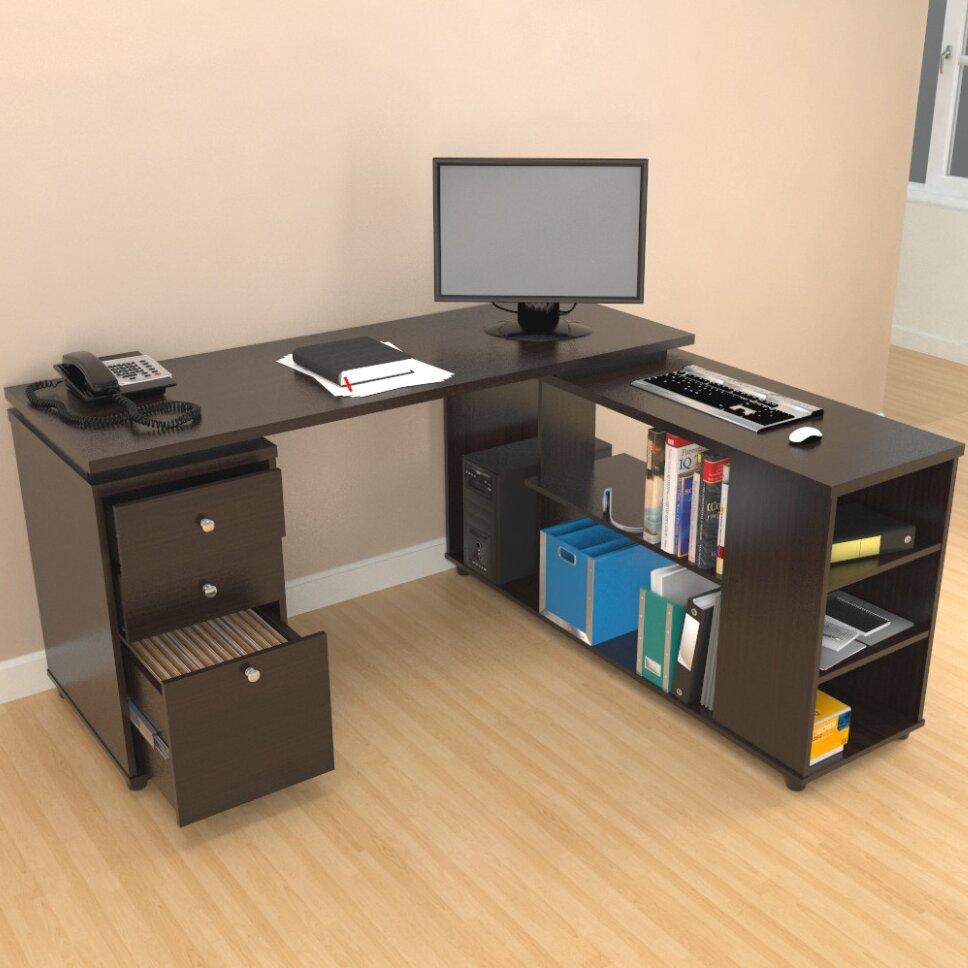 Latitude run toby computer desk with shelves reviews - Escritorios en l ...