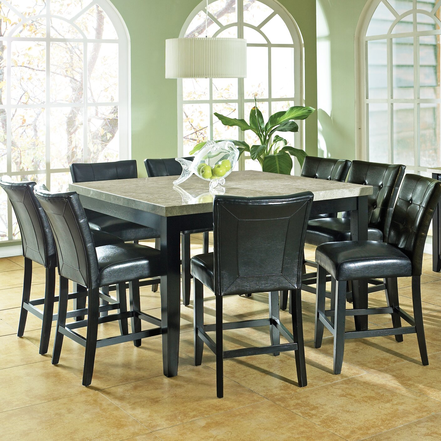 9 piece counter height dining room sets latitude run 9 counter height dining set 9159