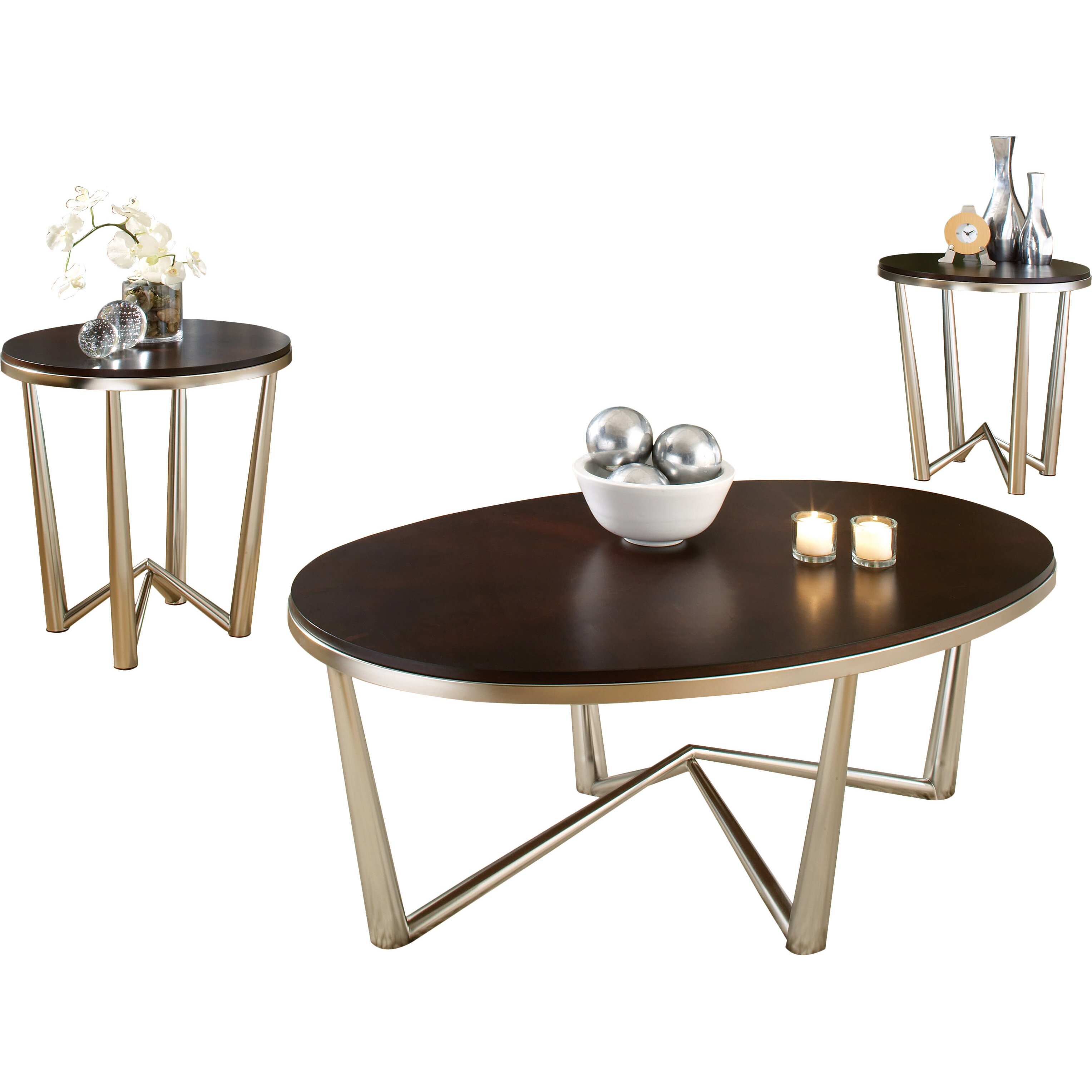 Veropeso 3 Piece Coffee Table Set: Latitude Run Cindy 3 Piece Coffee Table Set & Reviews