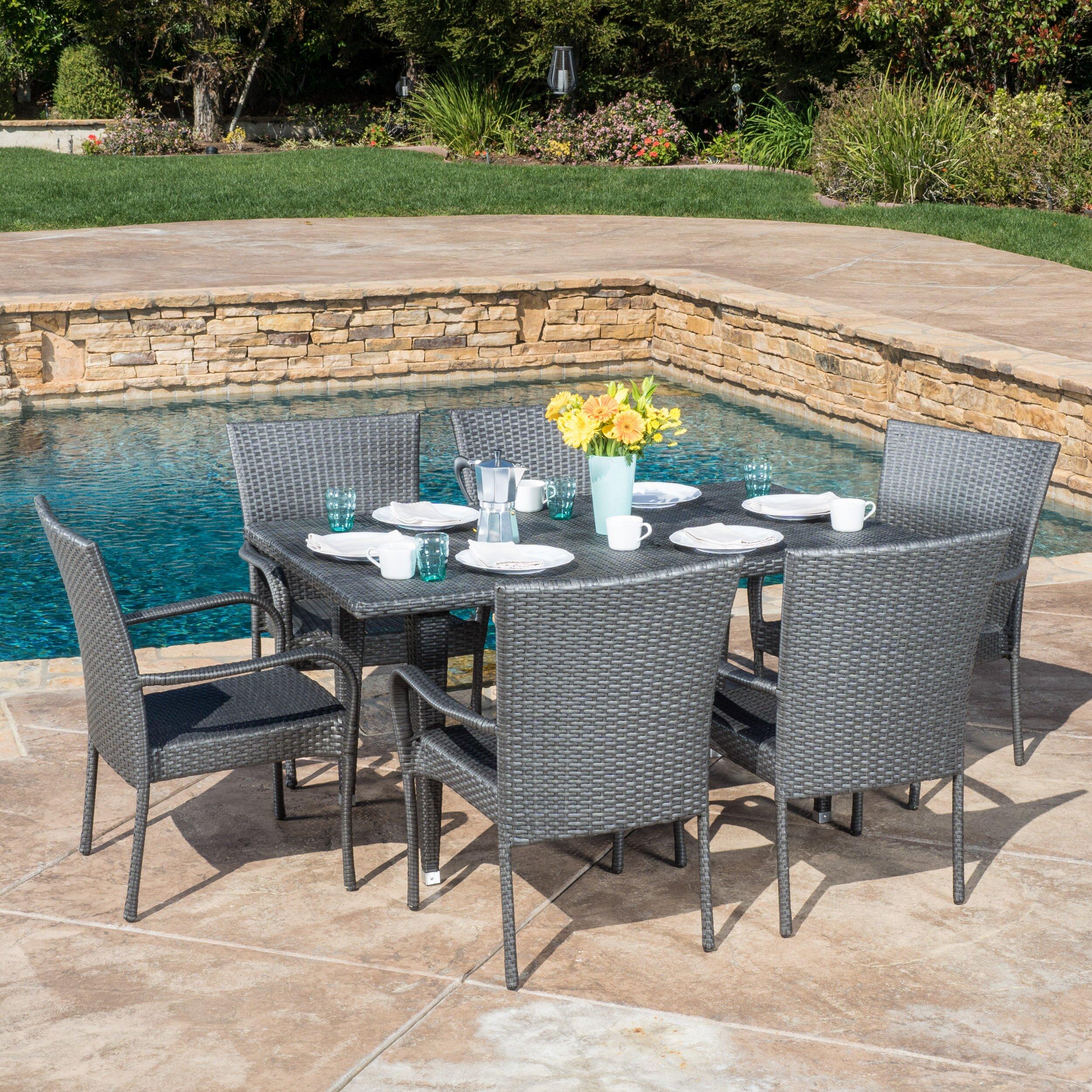 outdoor outdoor furniture outdoor dining sets latitude run sku