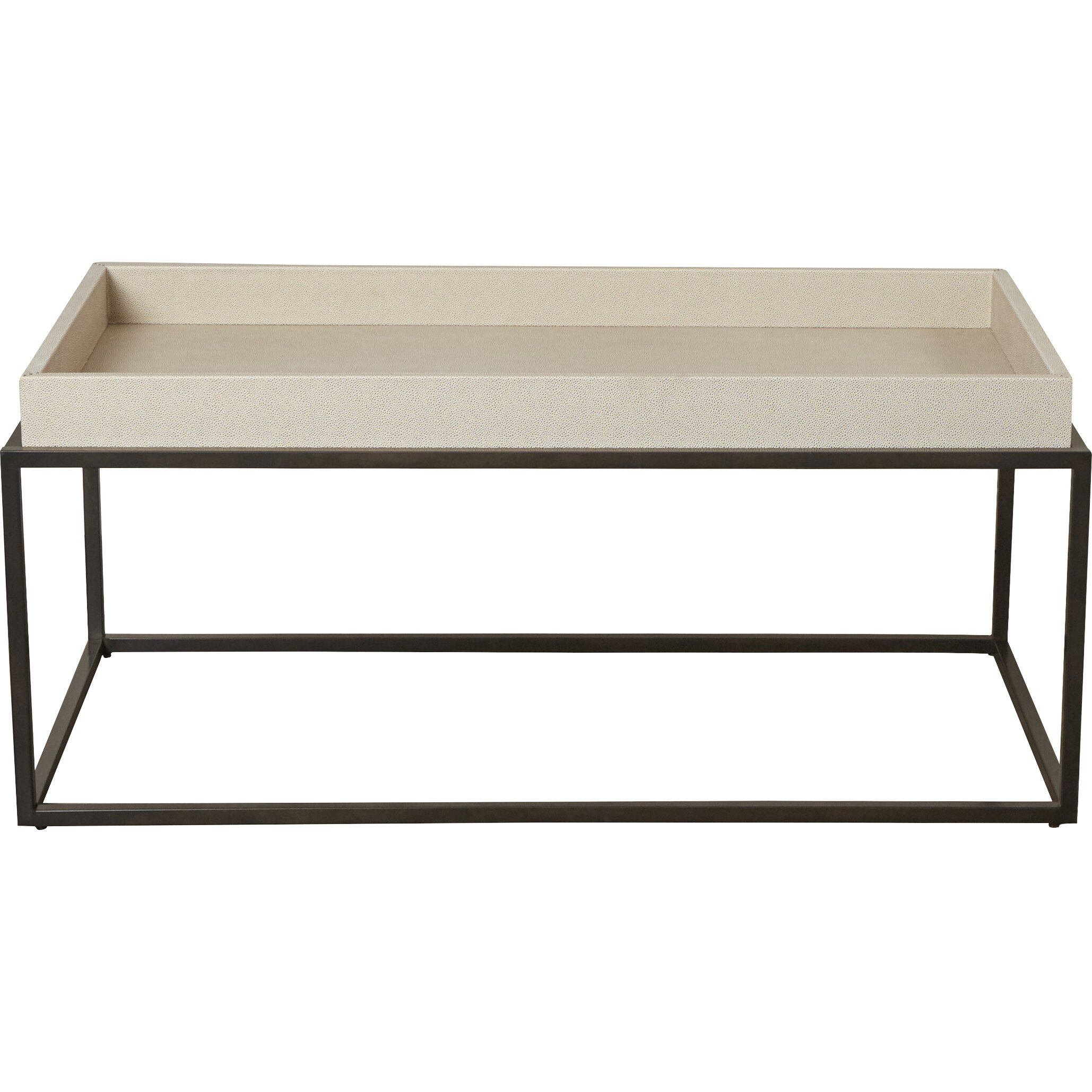 Latitude Run Teagan Coffee Table With Tray Top Reviews Wayfair