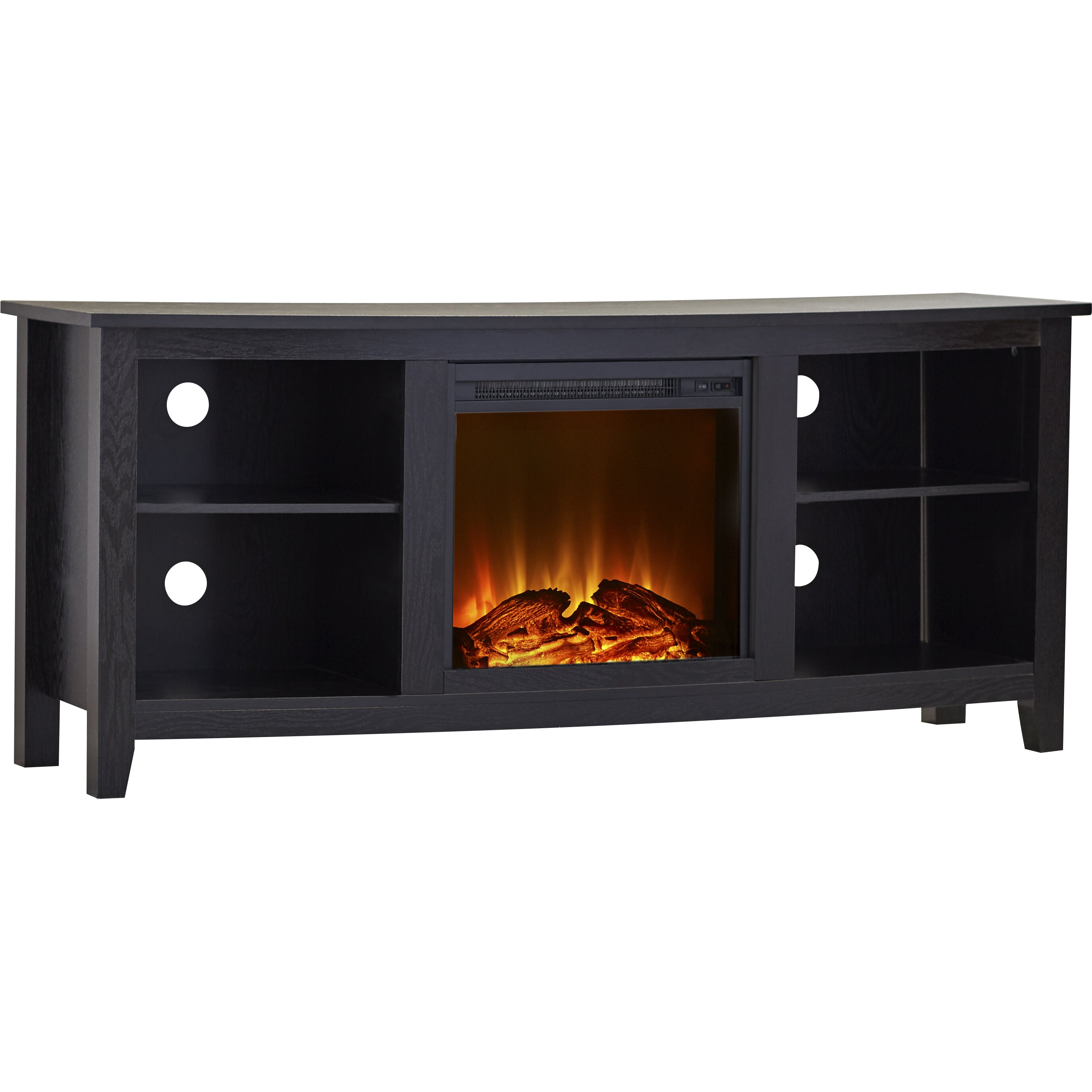 Latitude Run Mccall Tv Stand With Electric Fireplace Reviews Wayfair