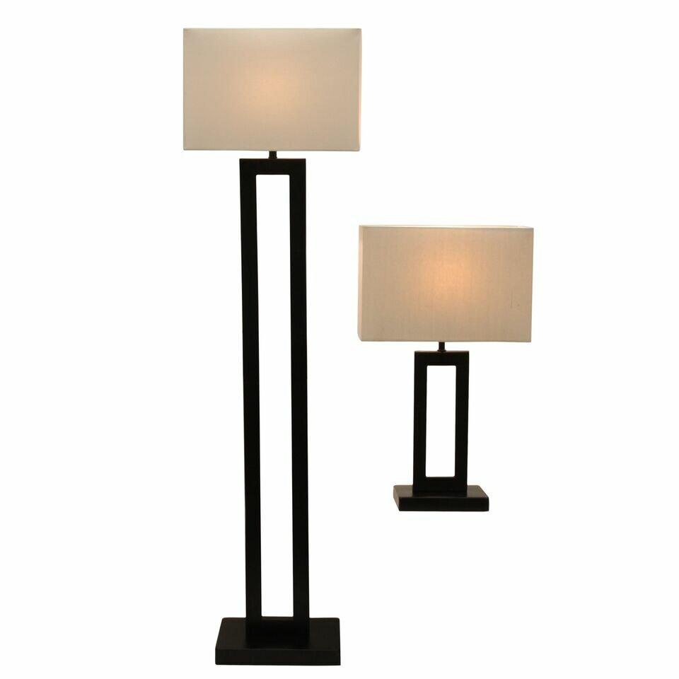 Innerspring Or Foam Mattress Latitude Run Reese 2 Piece Table and Floor Lamp Set ...