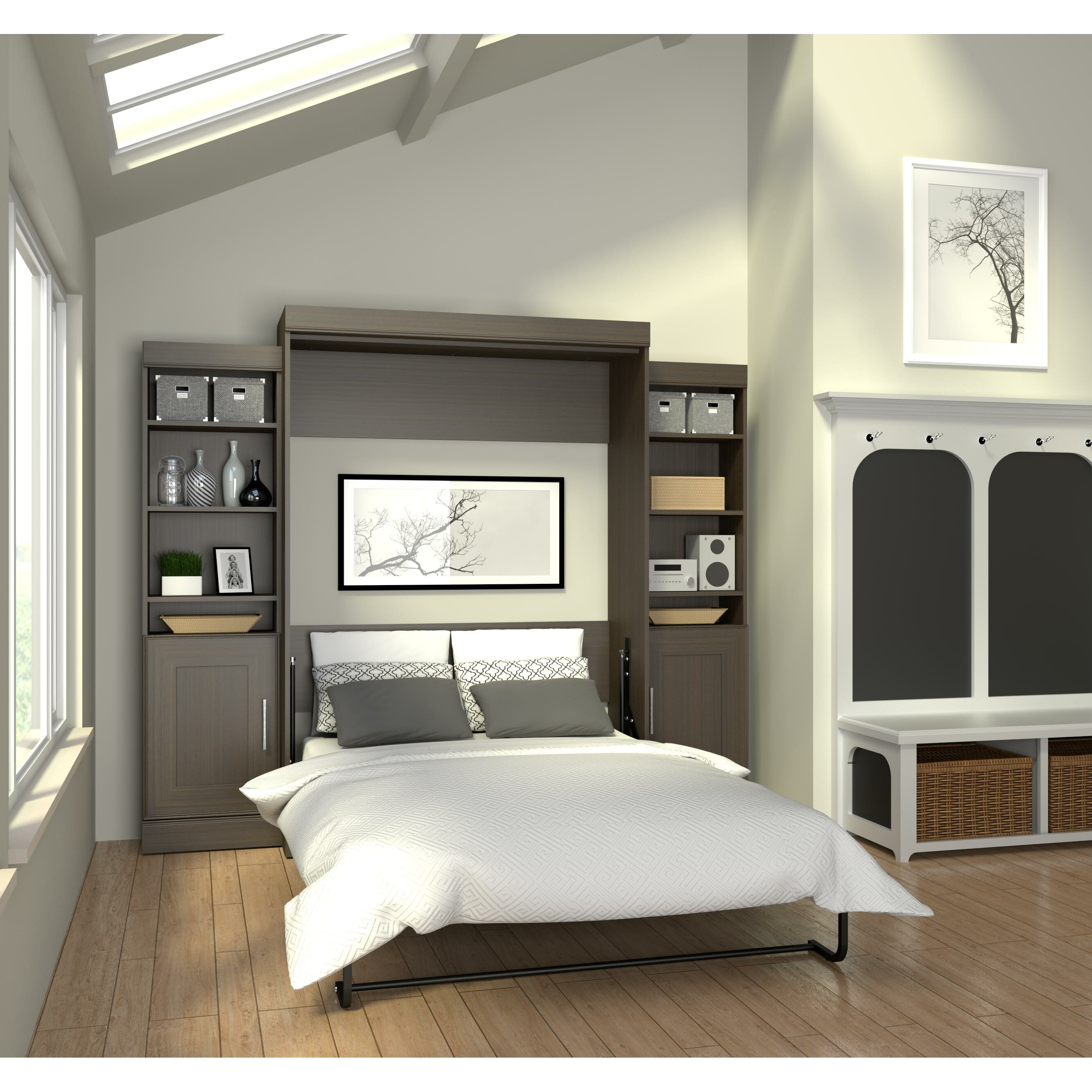Latitude run beecroft murphy bed wayfair for Decoration murale wayfair