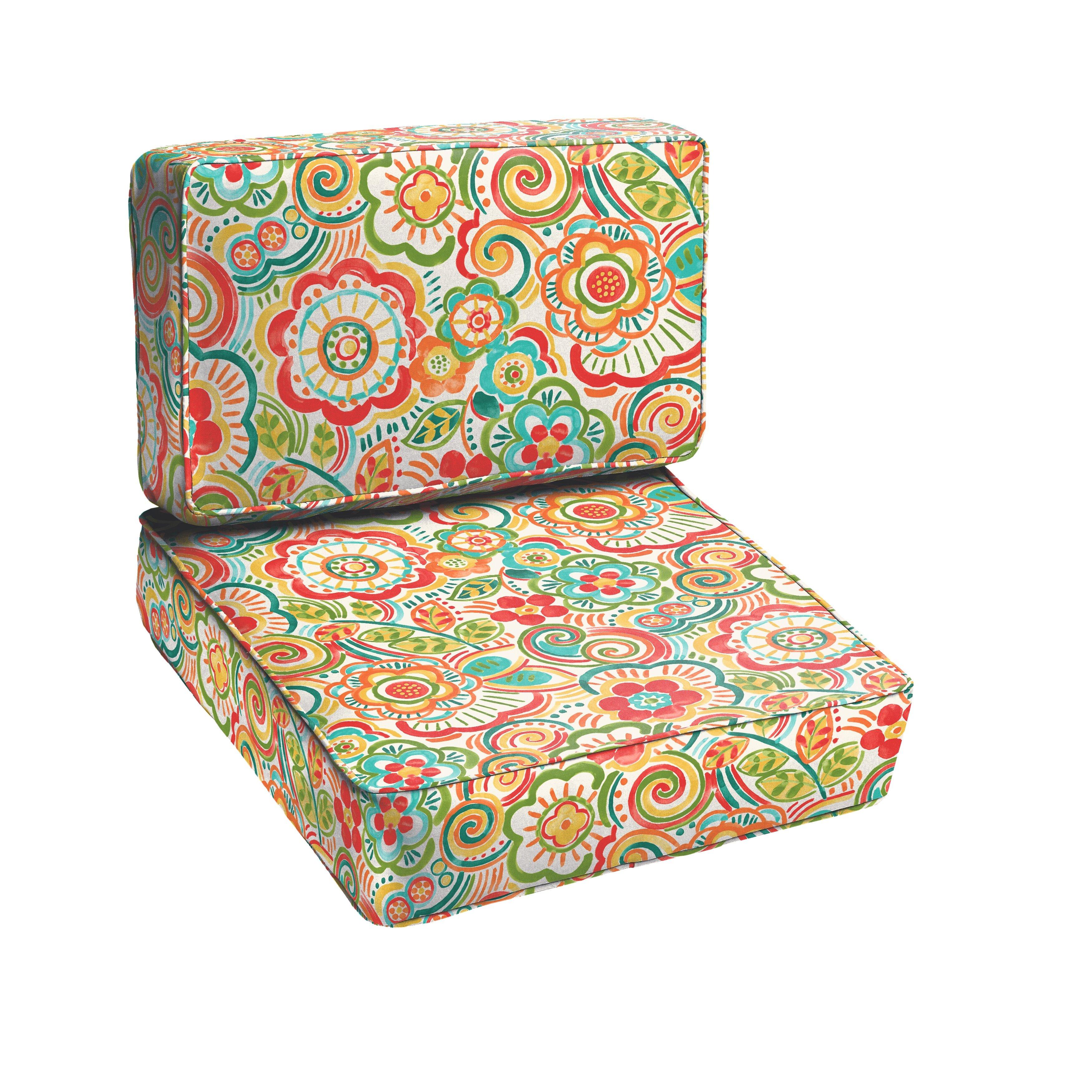 Latitude Run Annette 2 Piece Outdoor Chair Cushion Set – 2 Piece Outdoor Chair Cushions