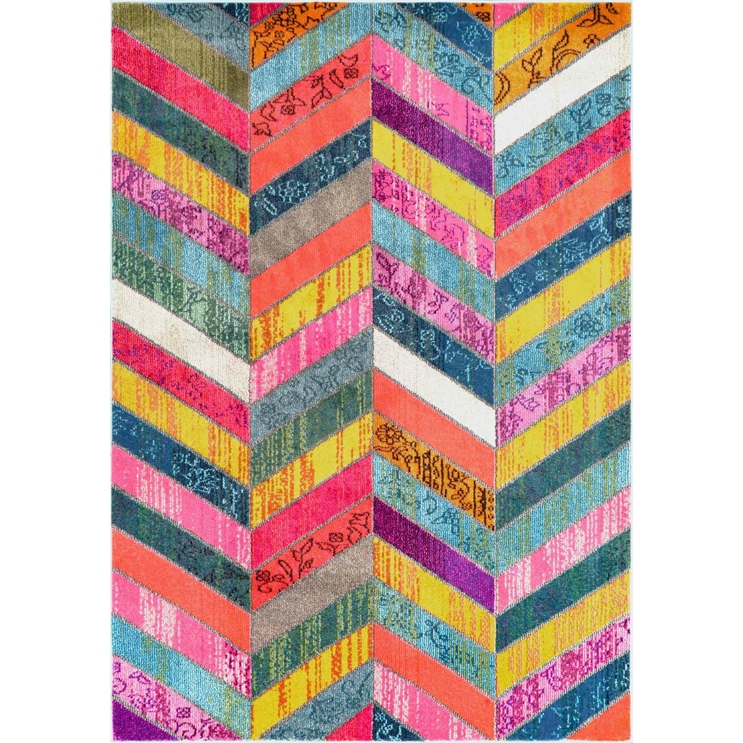 Latitude Run Sydnee Pink/Green/Yellow Area Rug & Reviews
