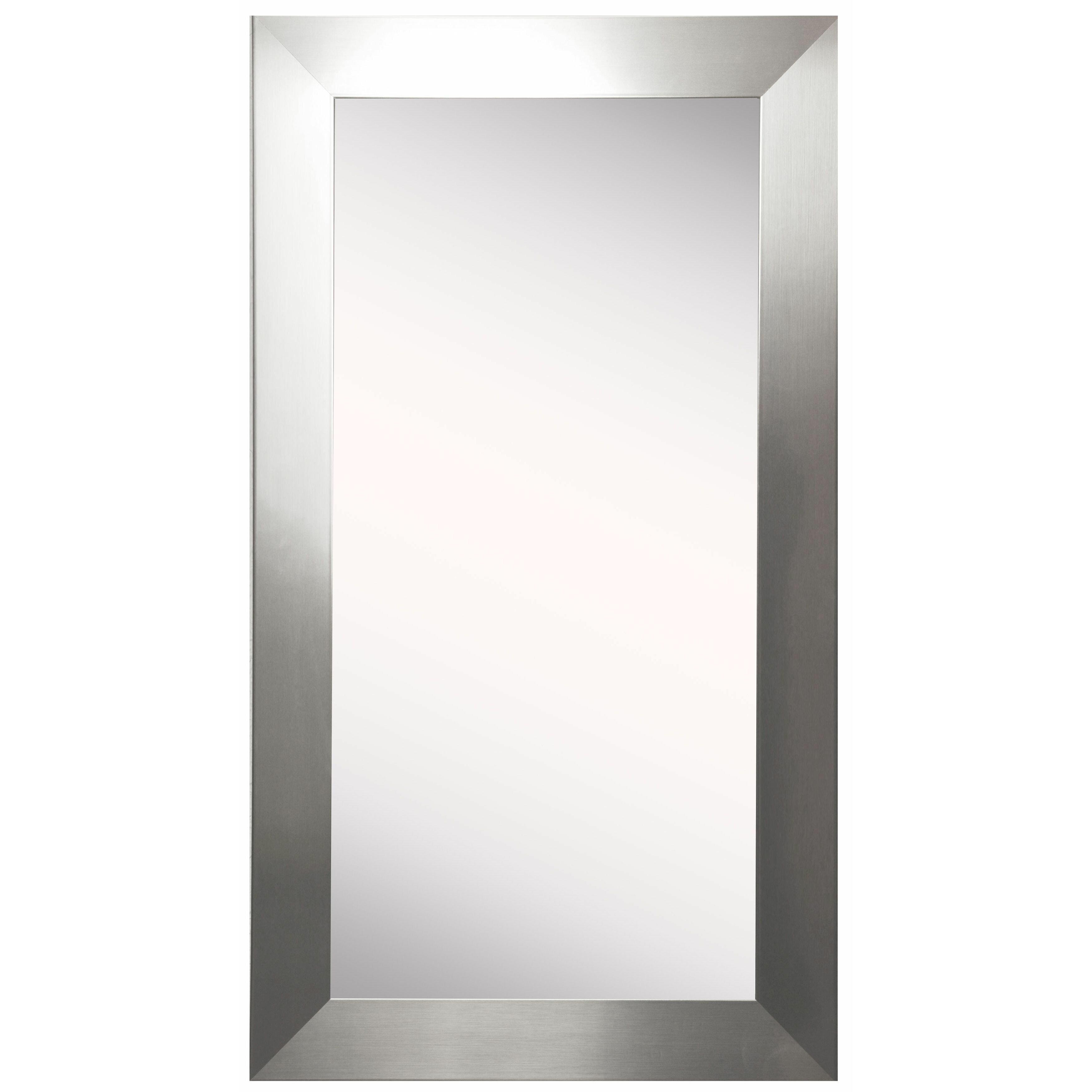 Latitude run wide tall mirror reviews wayfair for Tall glass mirror