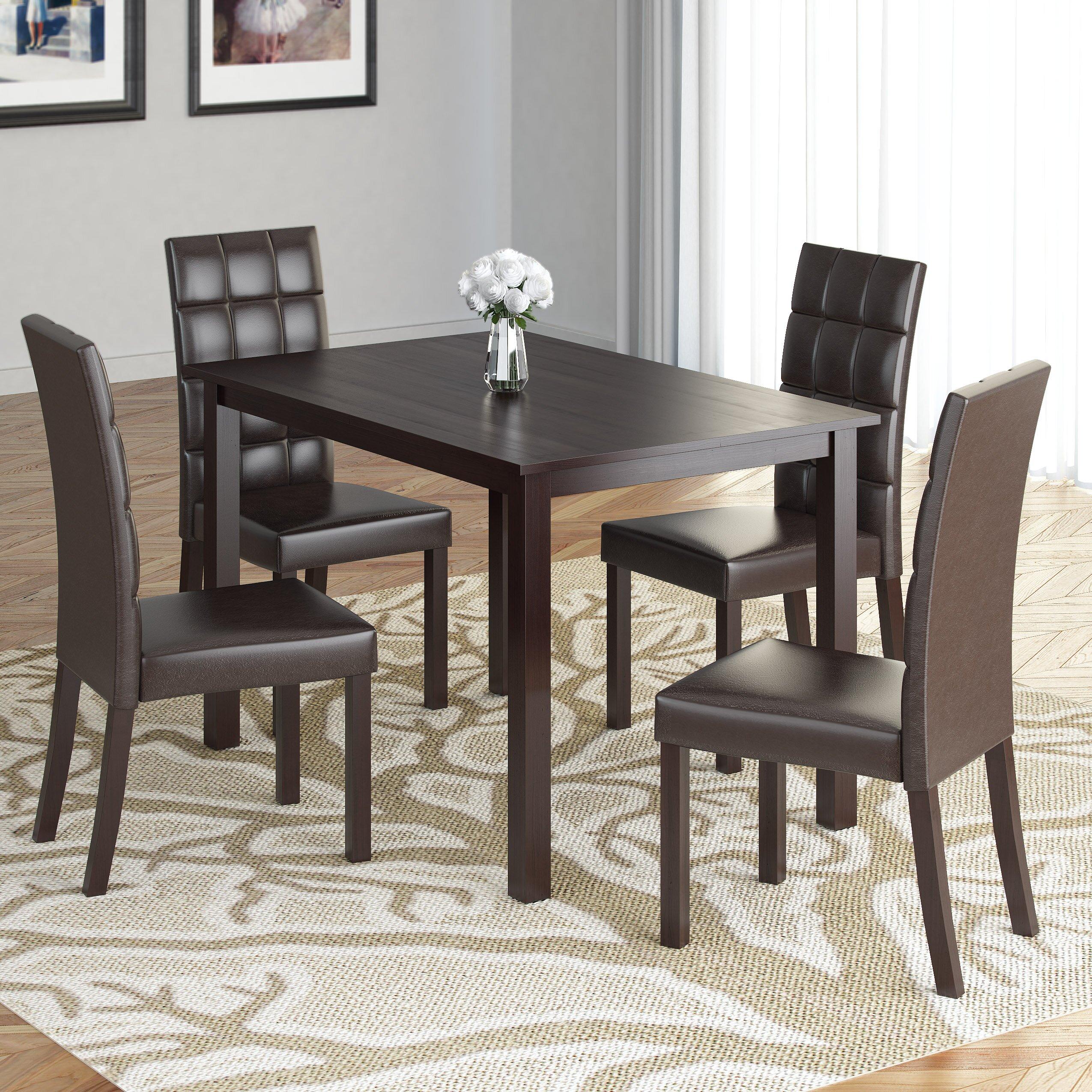 Dining Room Sets 5 Piece: Latitude Run Cesar 5 Piece Dining Set & Reviews