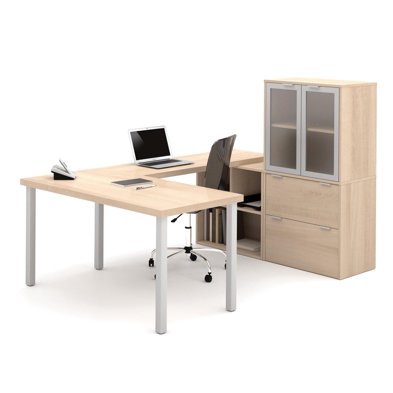Latitude Run Luther 1 Piece U Shaped Desk Office Suite