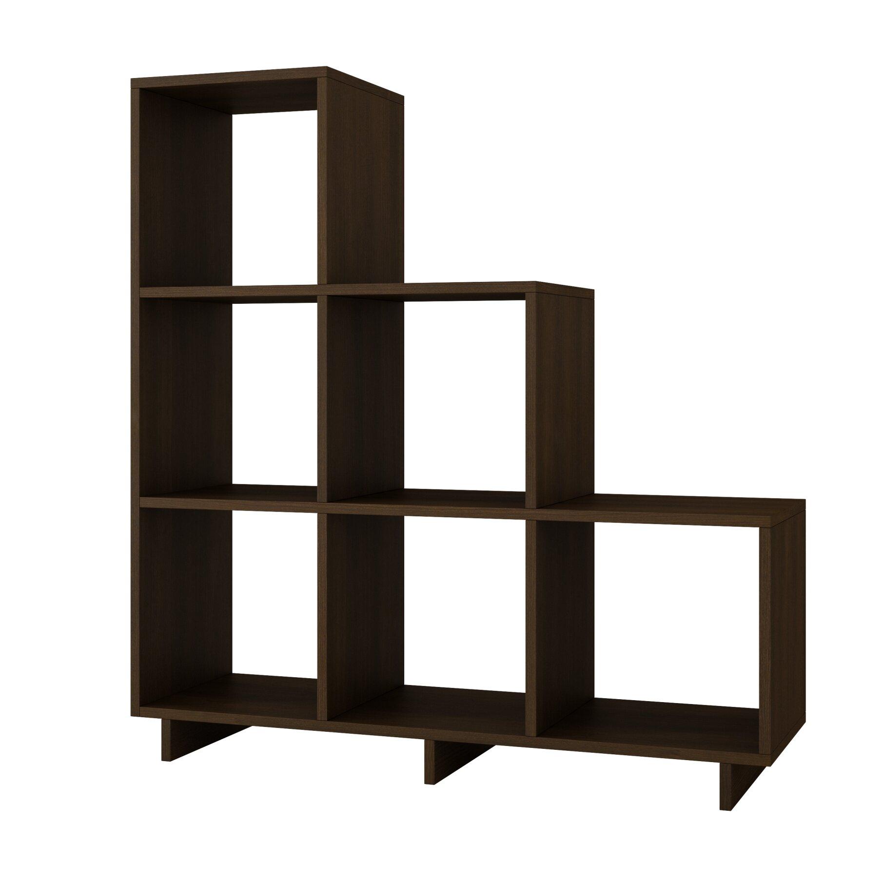 glass shelf unit living room