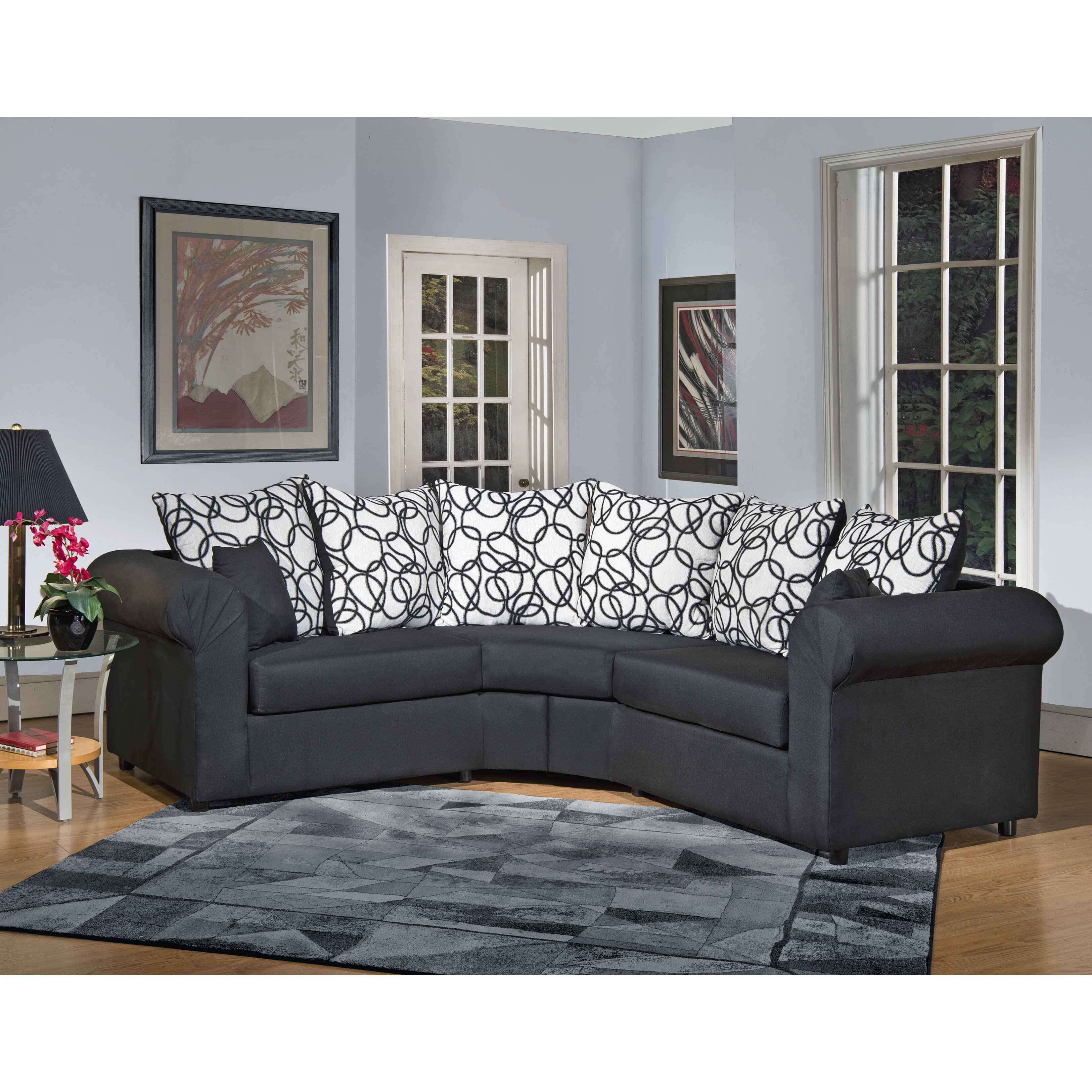 latitude run lila sectional reviews wayfair. Black Bedroom Furniture Sets. Home Design Ideas
