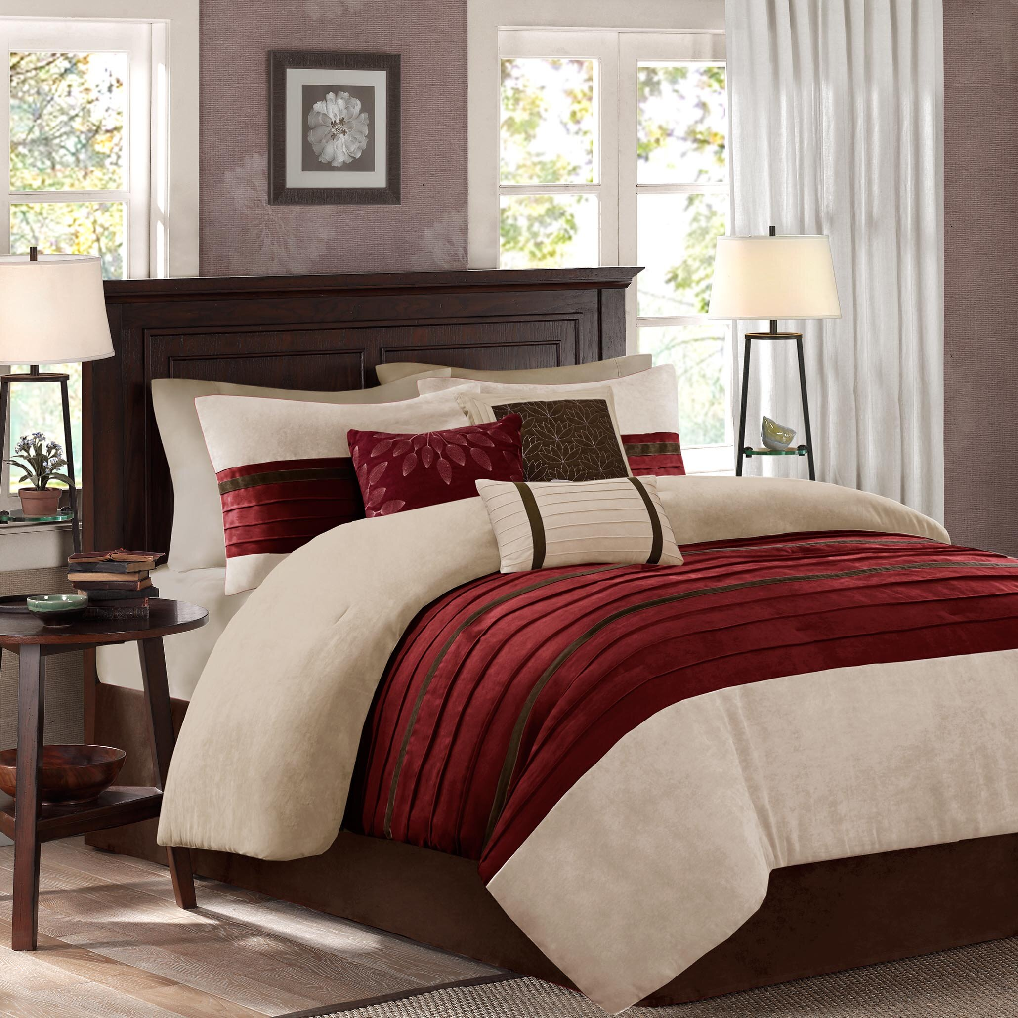 latitude run caleb 7 piece comforter set reviews wayfair. Black Bedroom Furniture Sets. Home Design Ideas