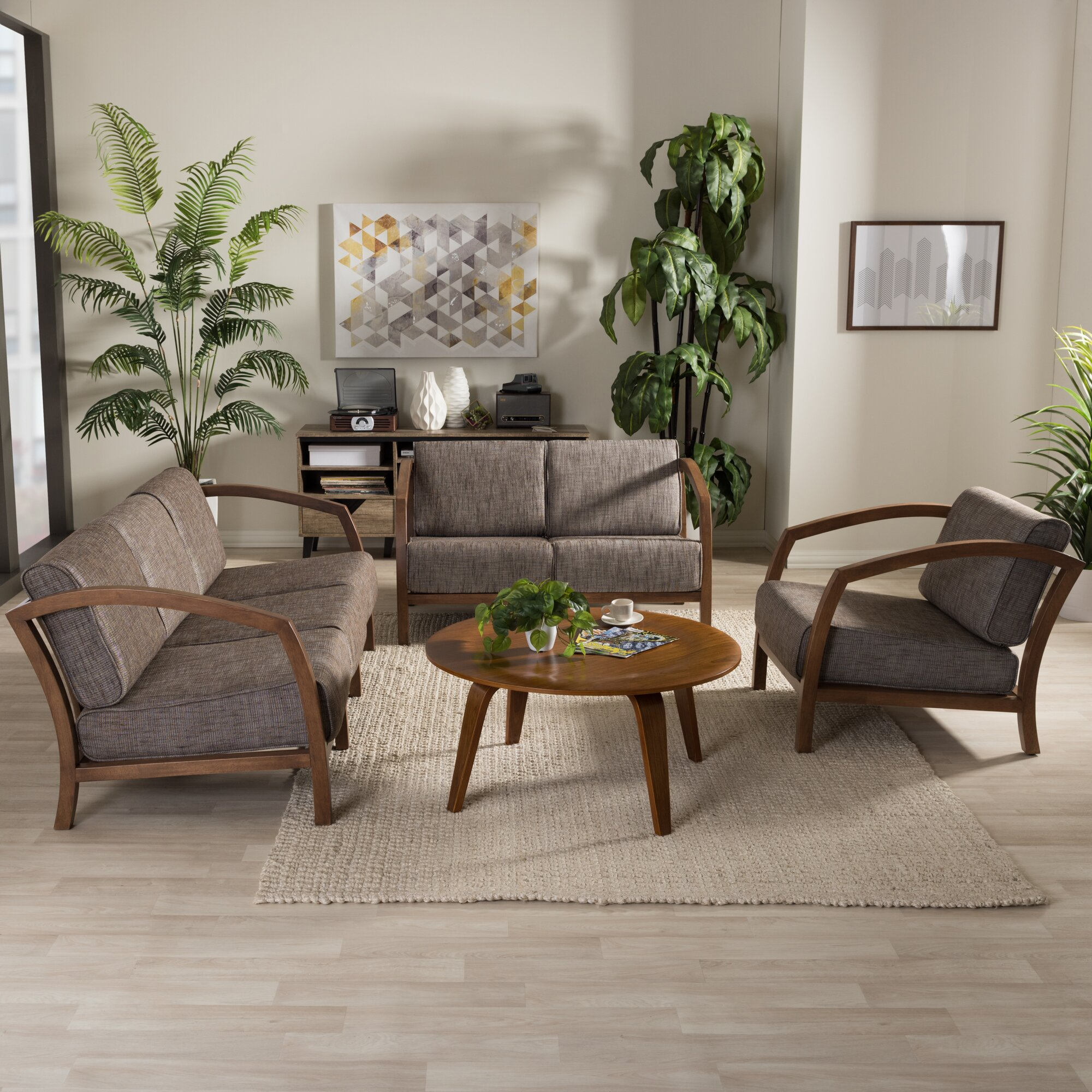 Latitude run aguiar 3 piece living room set wayfair for 3 piece living room set