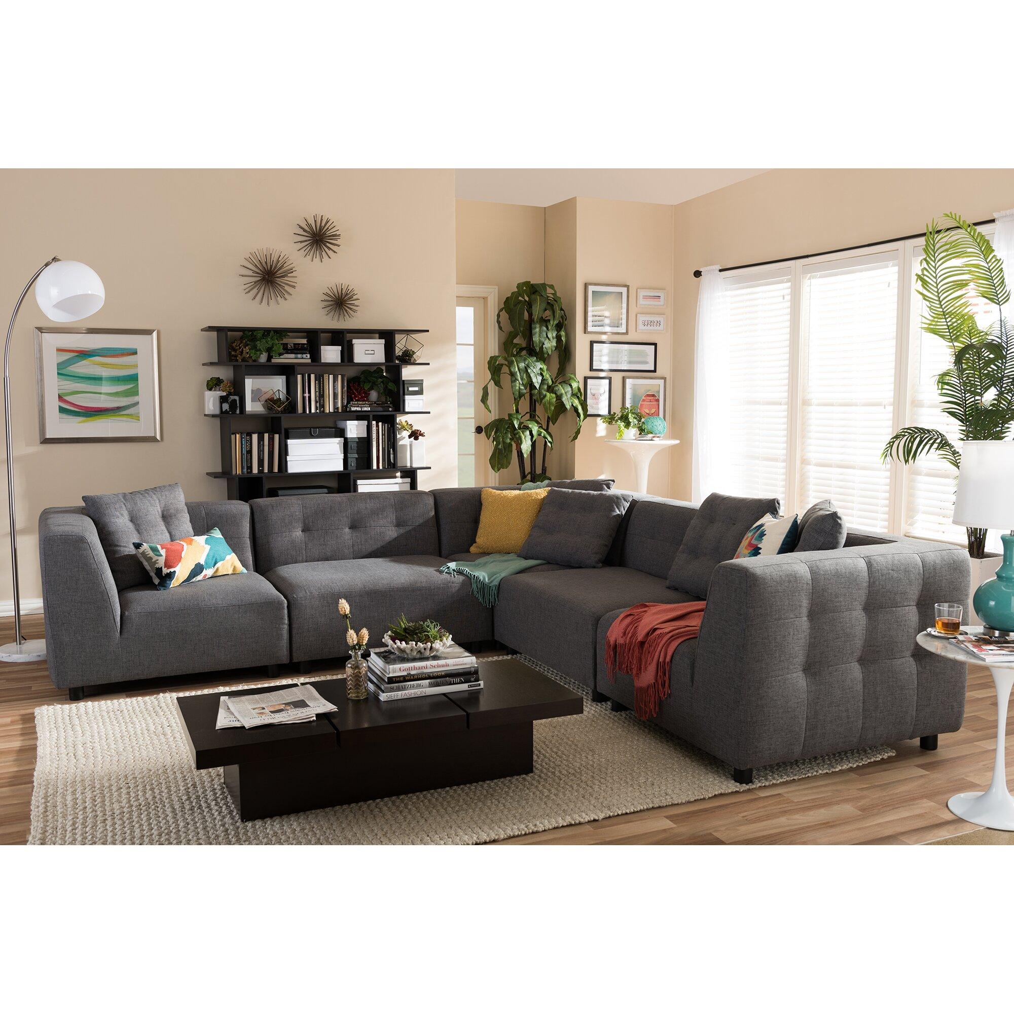Modular Sectional Sofa Small Spaces: Latitude Run Calla Modular Sectional & Reviews