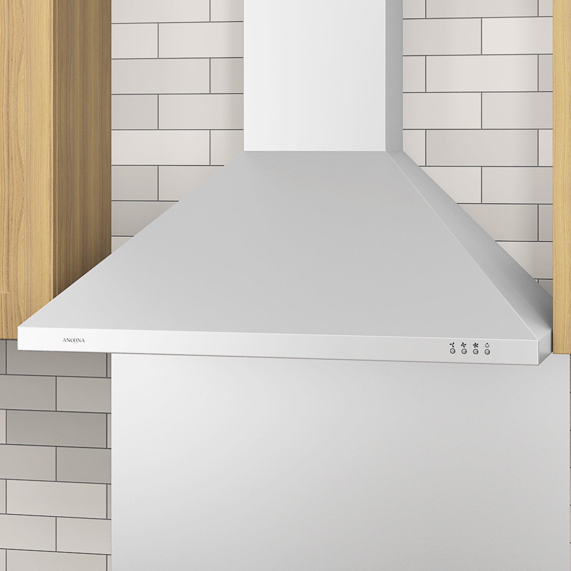 ancona kitchen range hood reviews ancona quot cfm convertible wall