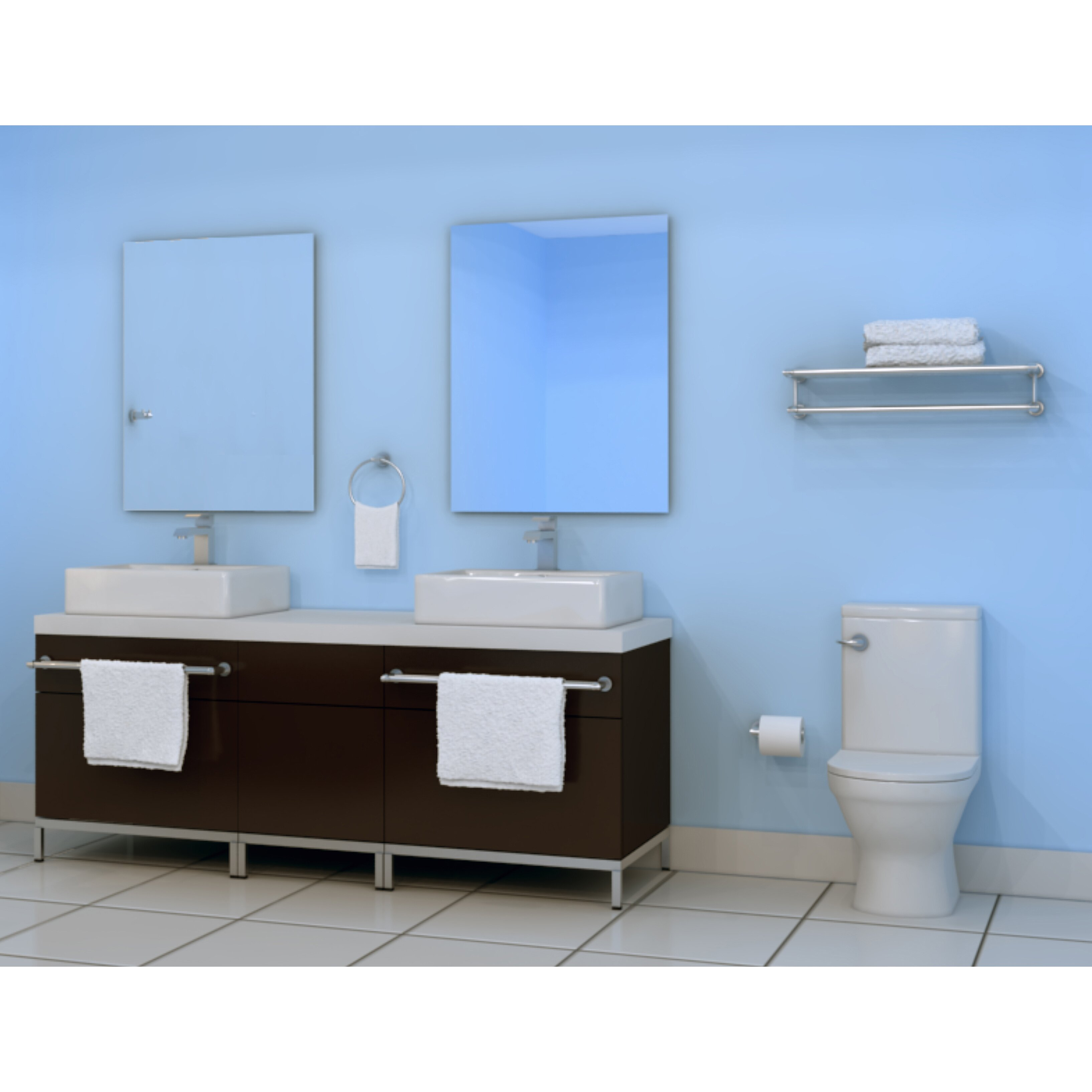 Ancona moderna 4 piece bathroom hardware set wayfair for Bathroom 4 piece set