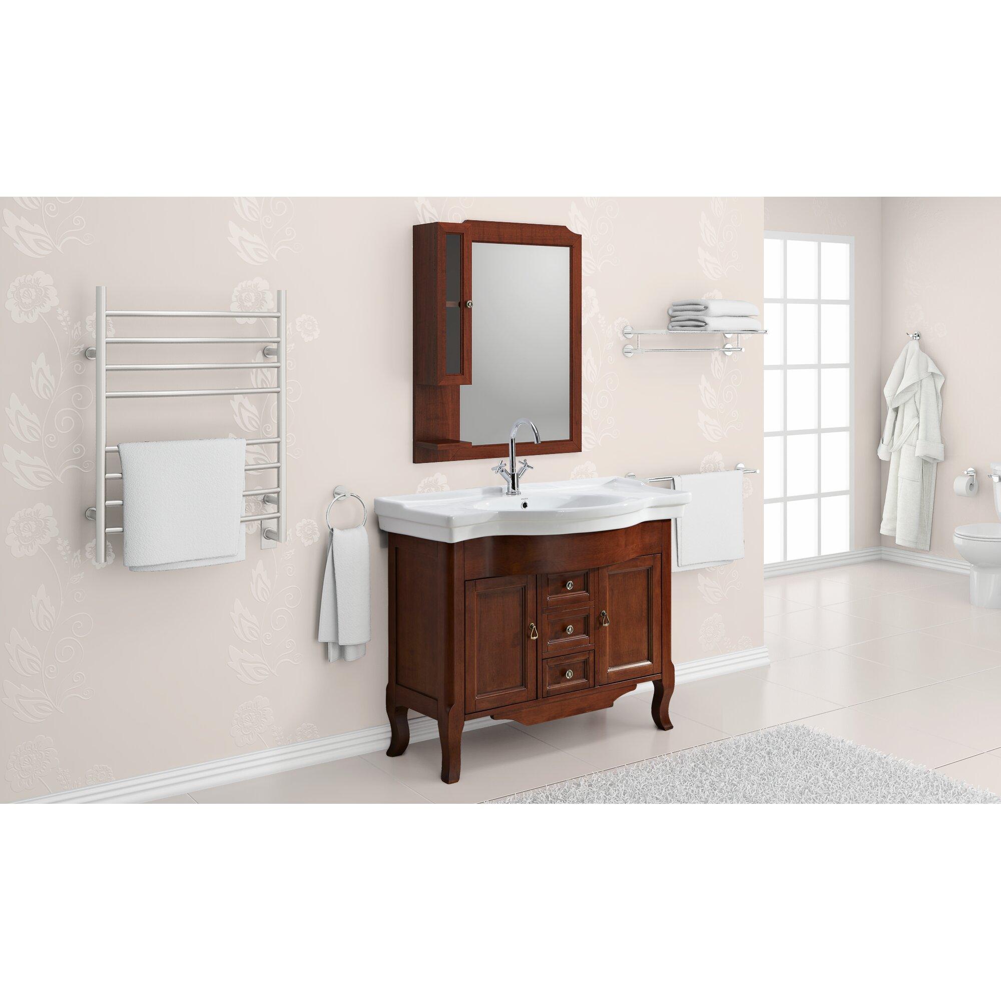 Ancona 4 piece bathroom hardware set reviews wayfair for Bathroom 4 piece set
