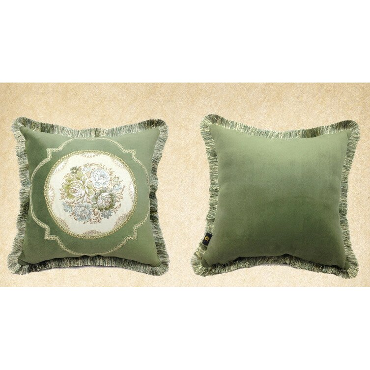 Wayfair Decorative Pillow Covers : AirDoDo European Floral Throw Pillow Cover Wayfair