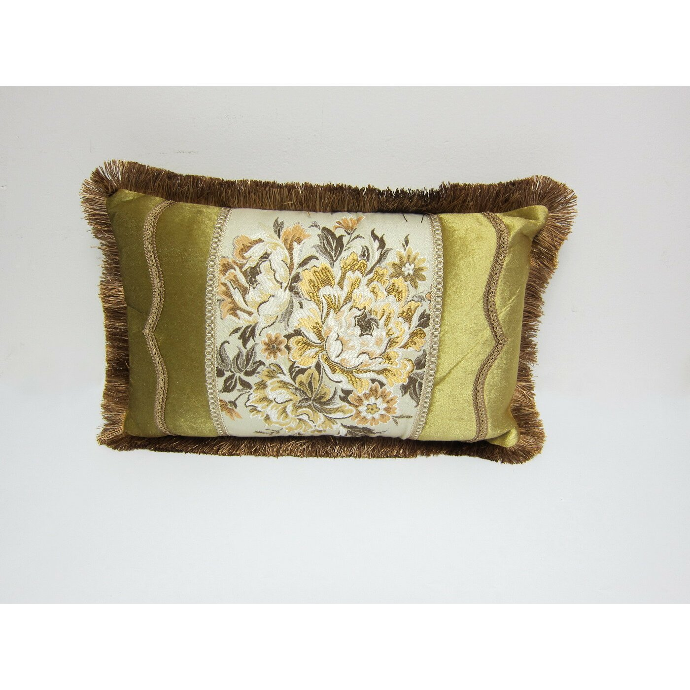 Decorative Pillow Wayfair : AirDoDo European Floral Decorative Lumbar Pillow Cover Wayfair