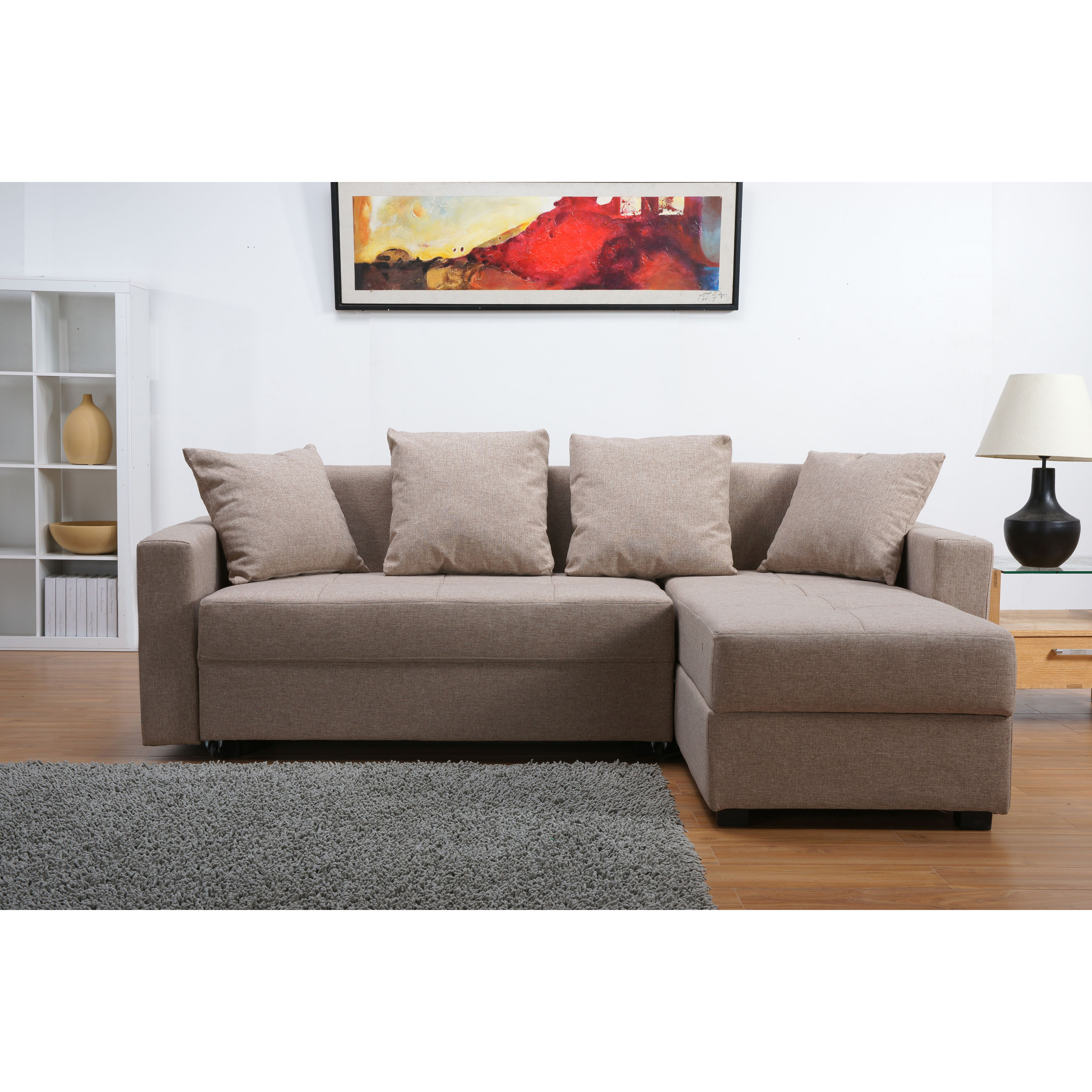 Three Posts Morehouse Reversible Chaise Corner Sofa Bed