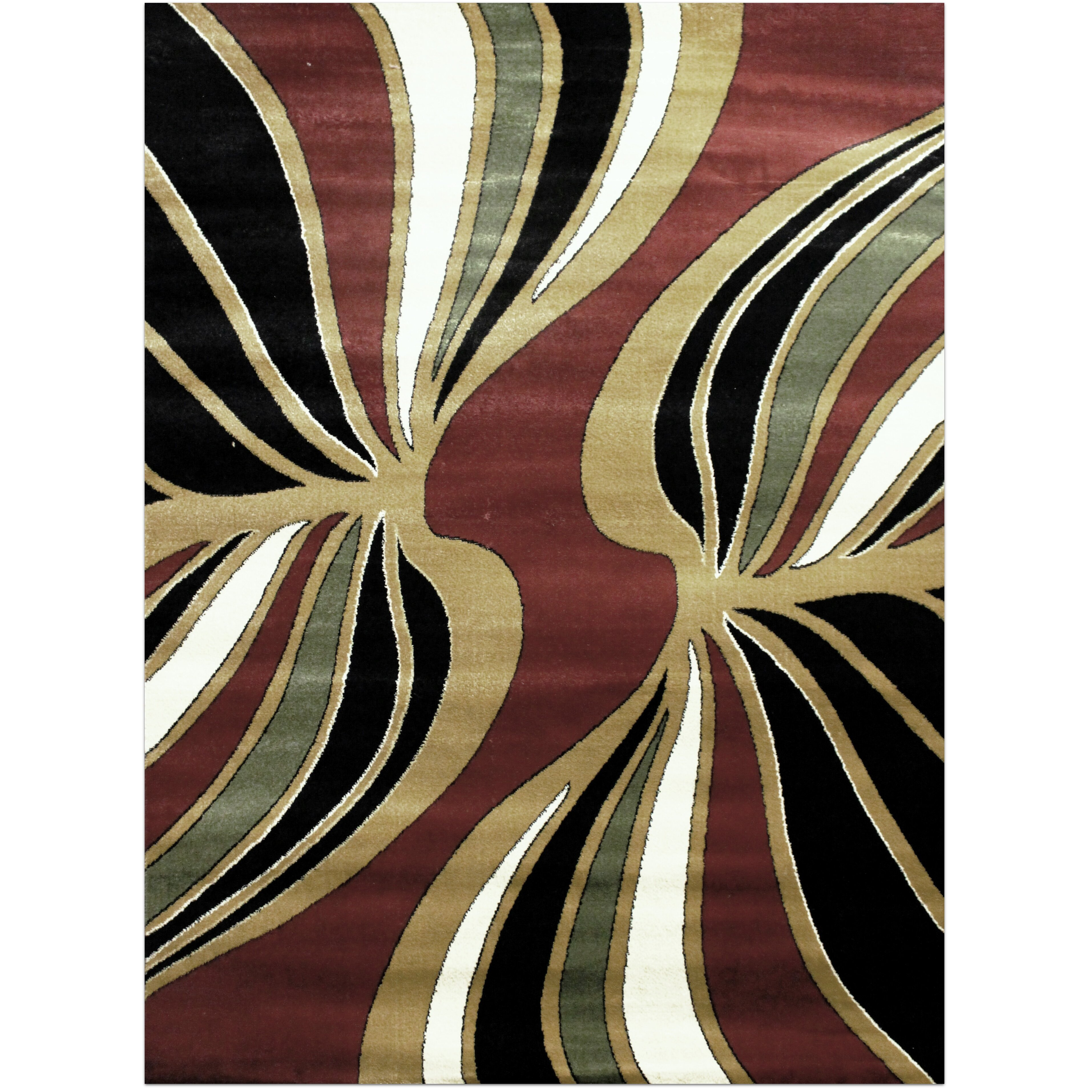 Brady home area rug wayfair for Red and gold area rugs