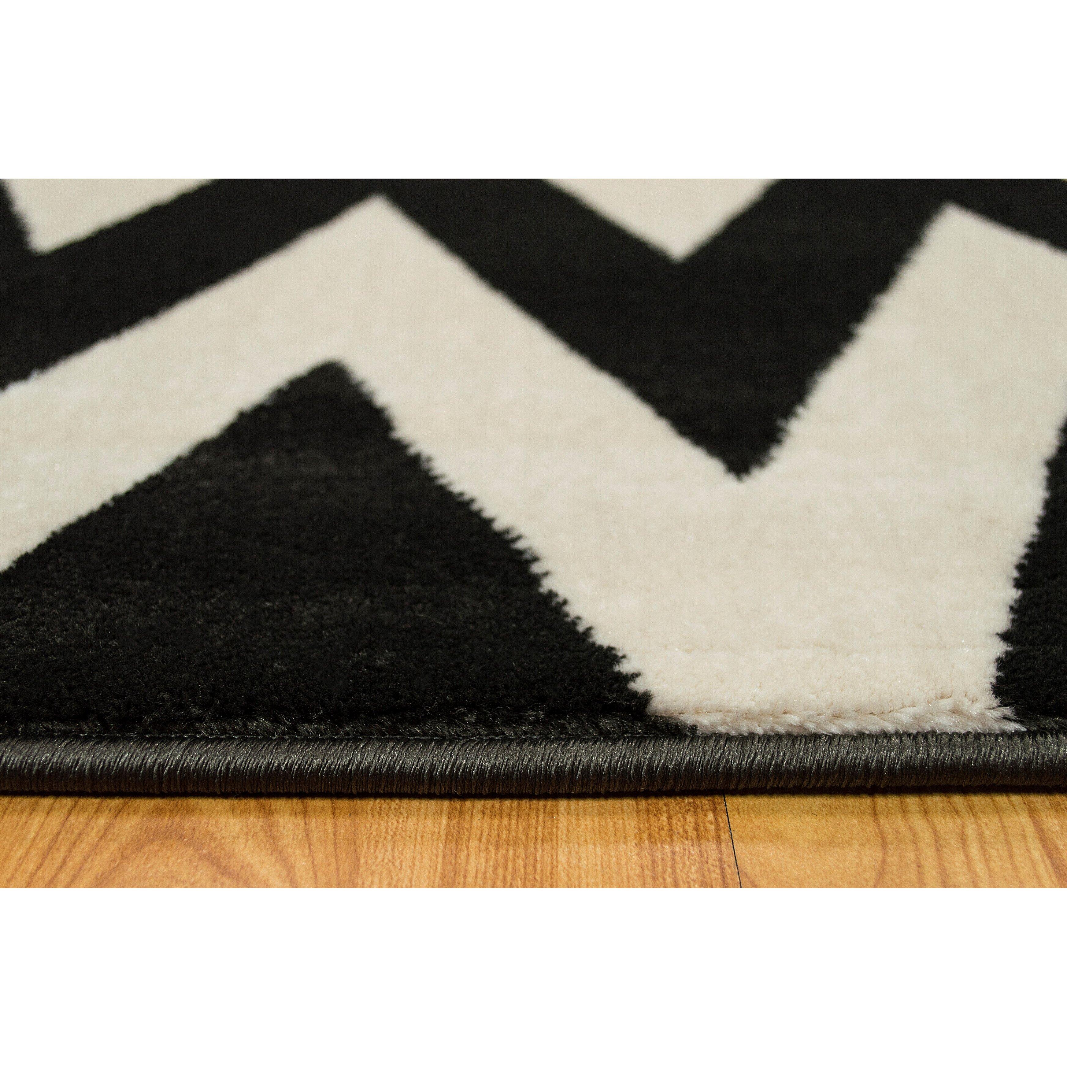 brady home coal white area rug reviews wayfair