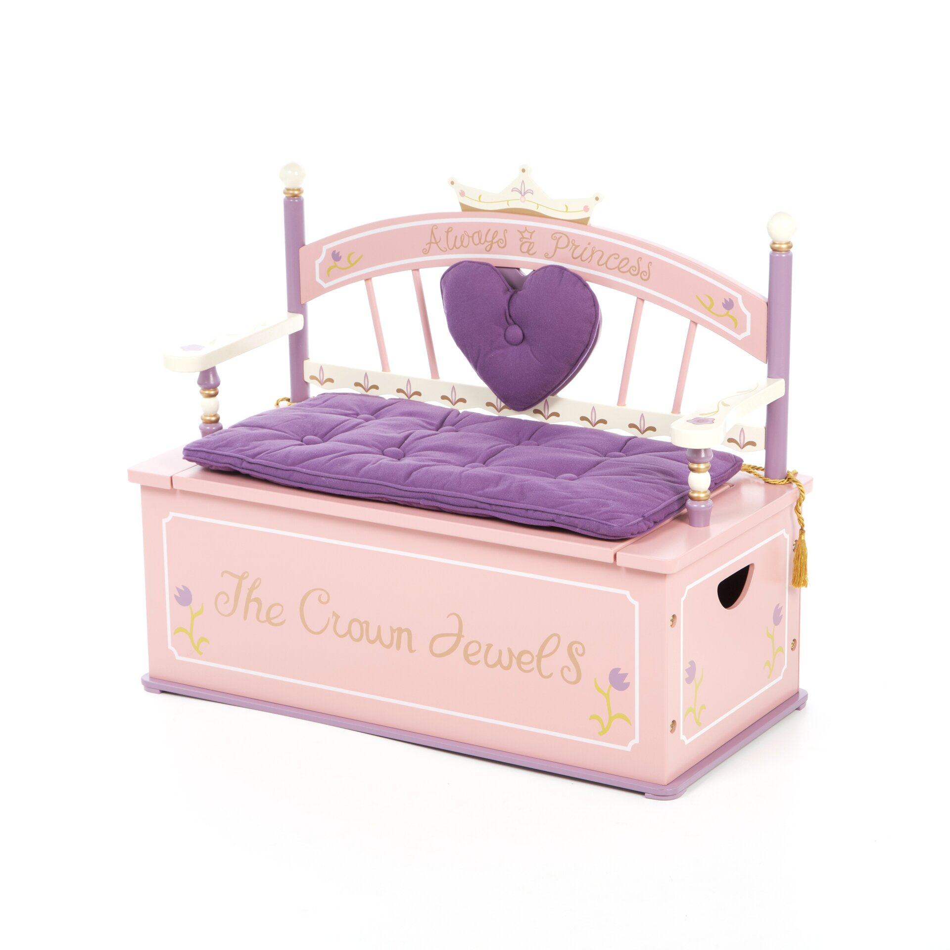 Levels Of Discovery Princess Kids Bench With Storage Compartment Reviews Wayfair