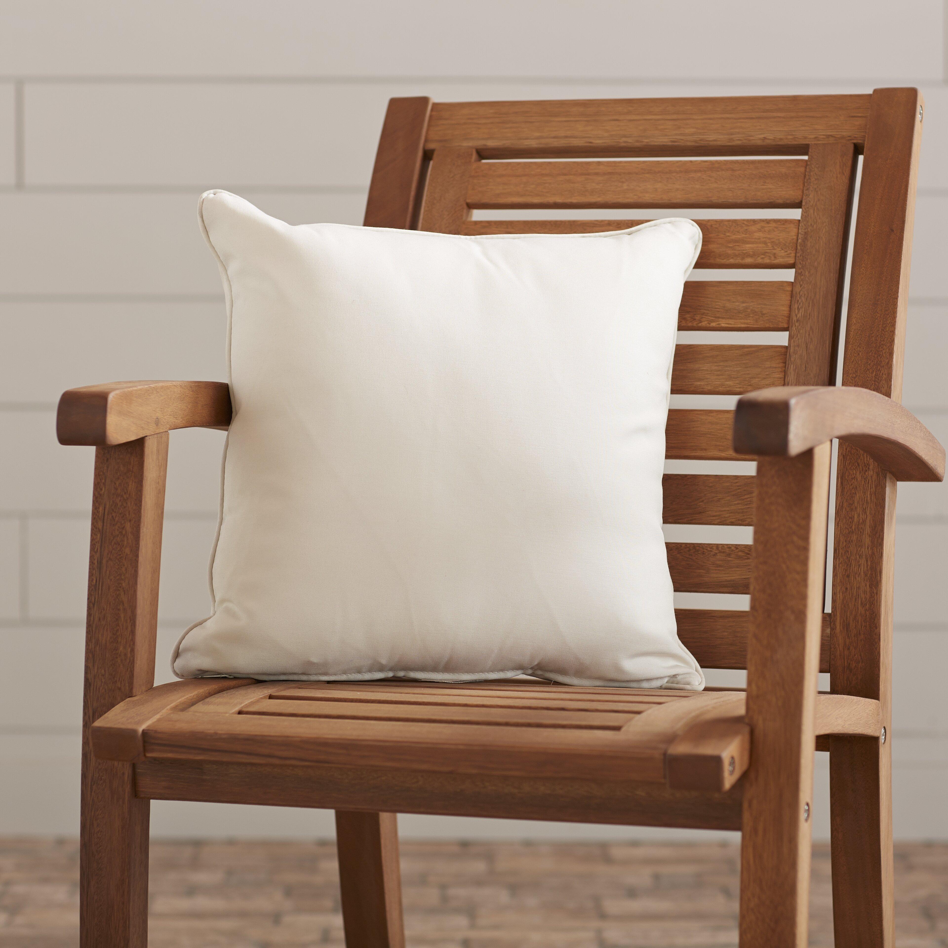 Wayfair Custom Outdoor Cushions Outdoor Solid Throw Pillow & Reviews Wayfair