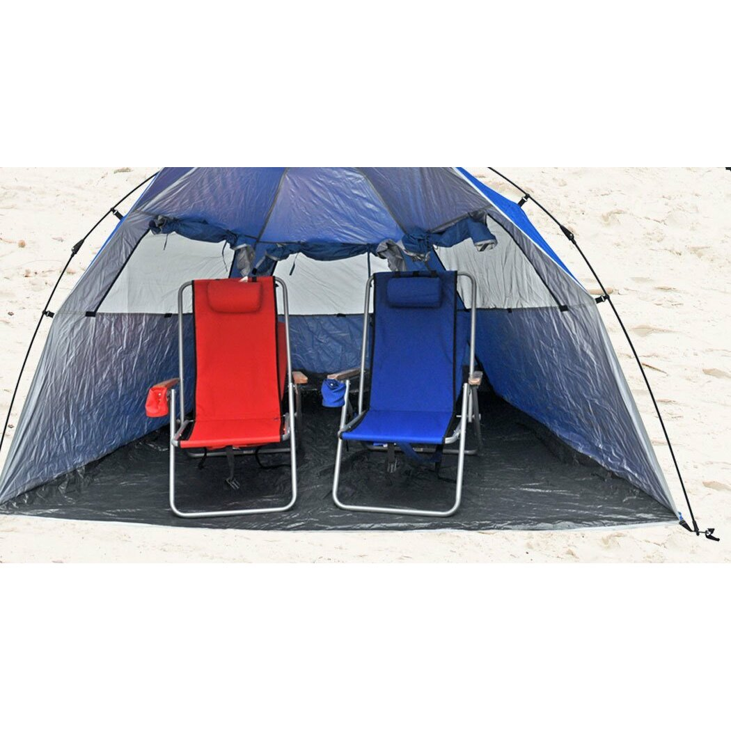 shadezilla instant pop up 2 person tent with carry bag. Black Bedroom Furniture Sets. Home Design Ideas