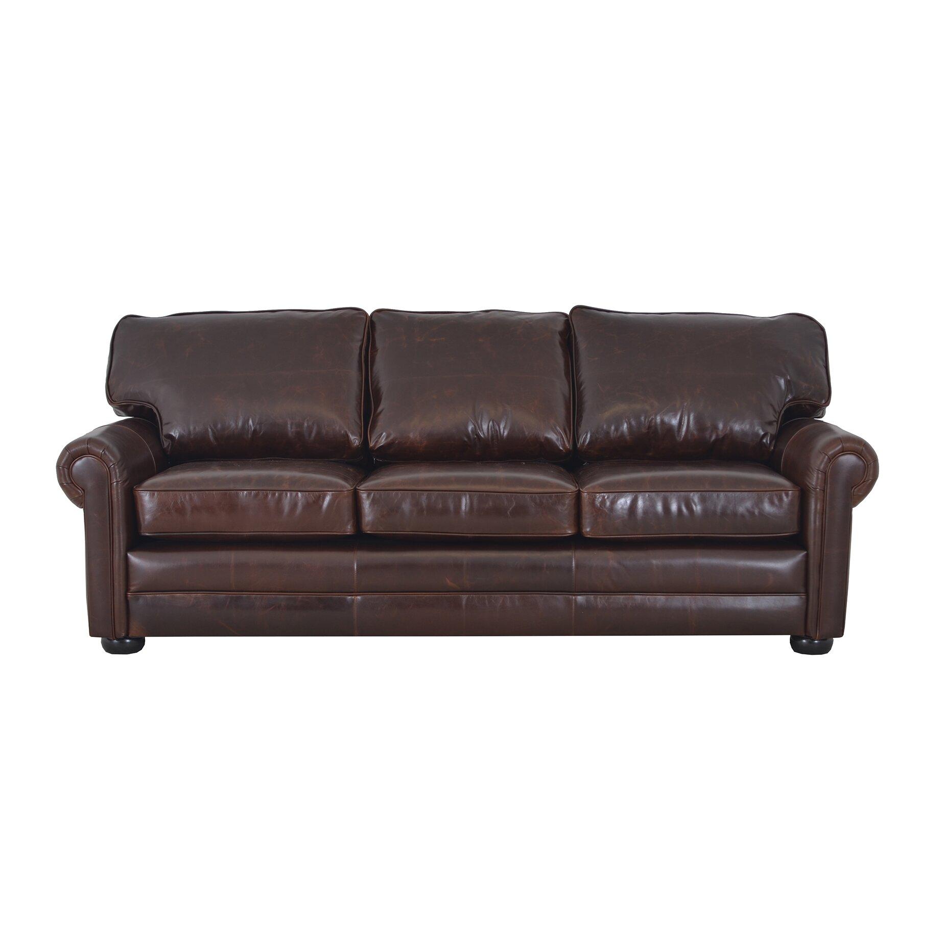 Best Genuine Leather Sectional Sofa: Westland And Birch Fenway Studio Genuine Top Grain Leather