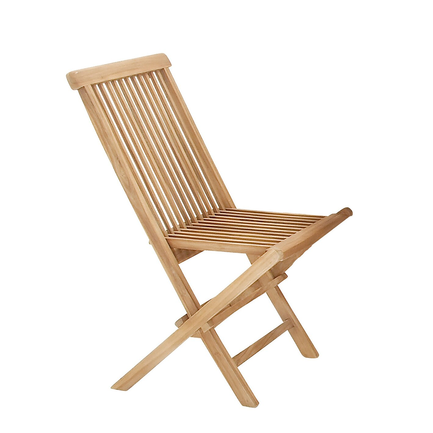 Urban Designs Teak Wood Folding Chair 5 Piece Dining Set