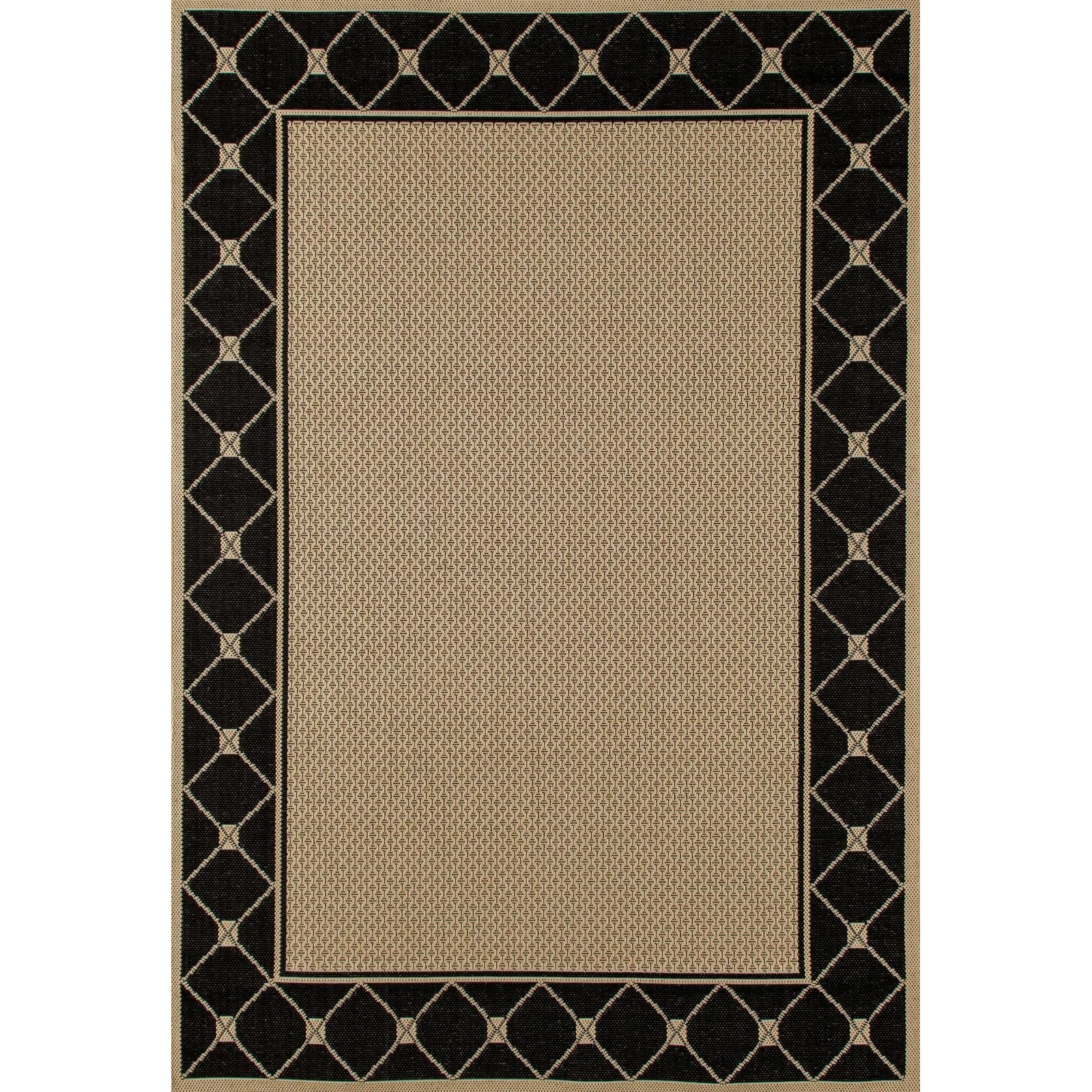 Art carpet plymouth black beige indoor outdoor area rug for Indoor out door rugs