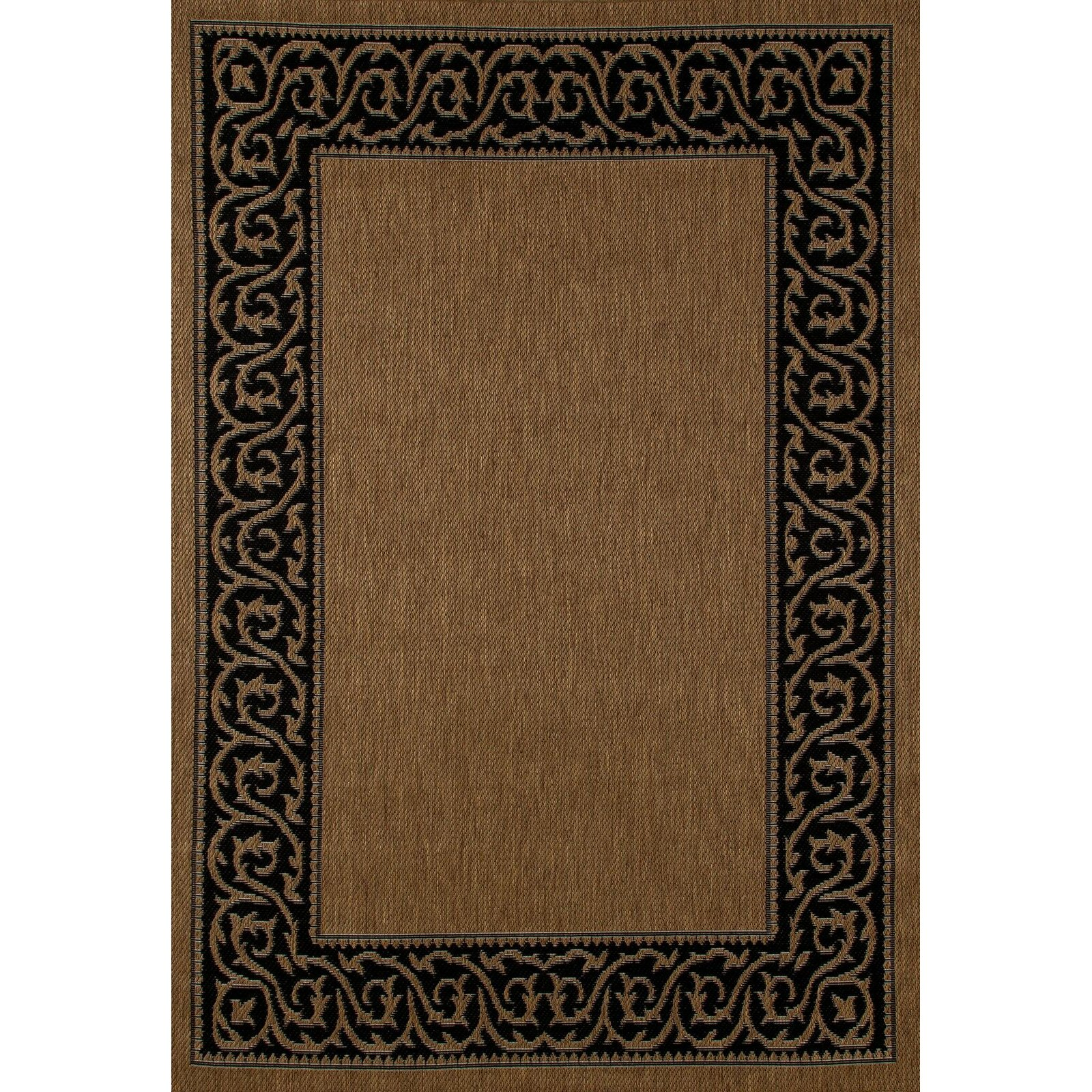 Indoor Outdoor Rugs Black And White: Art Carpet Plymouth Brown/Black Indoor/Outdoor Area Rug