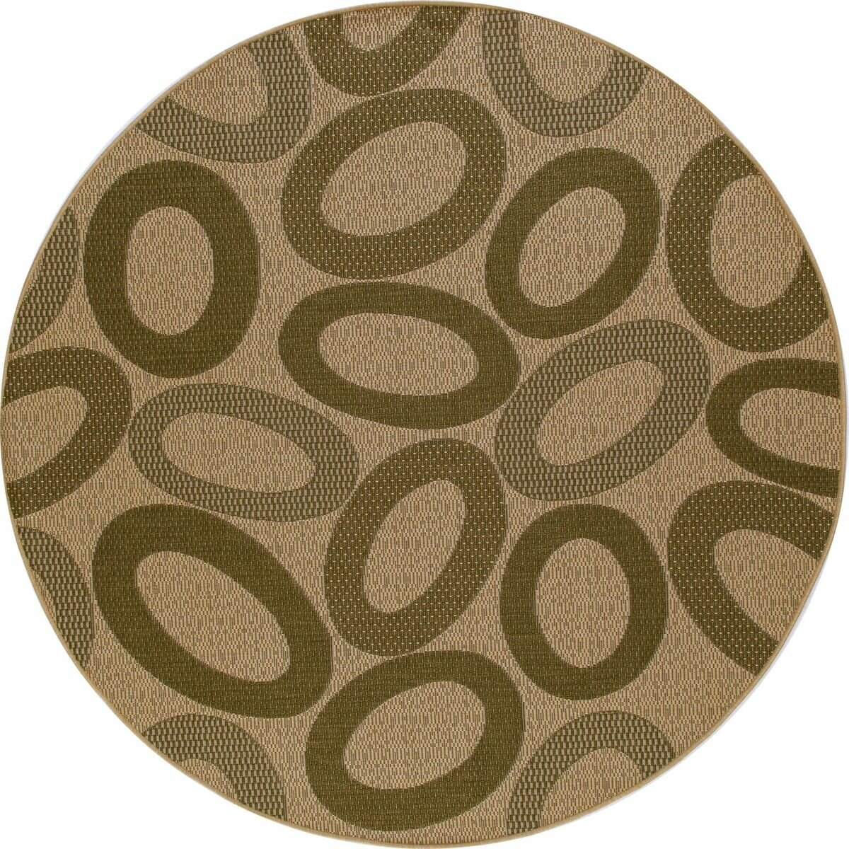Art carpet plymouth green cream indoor outdoor area rug for Green and cream rugs