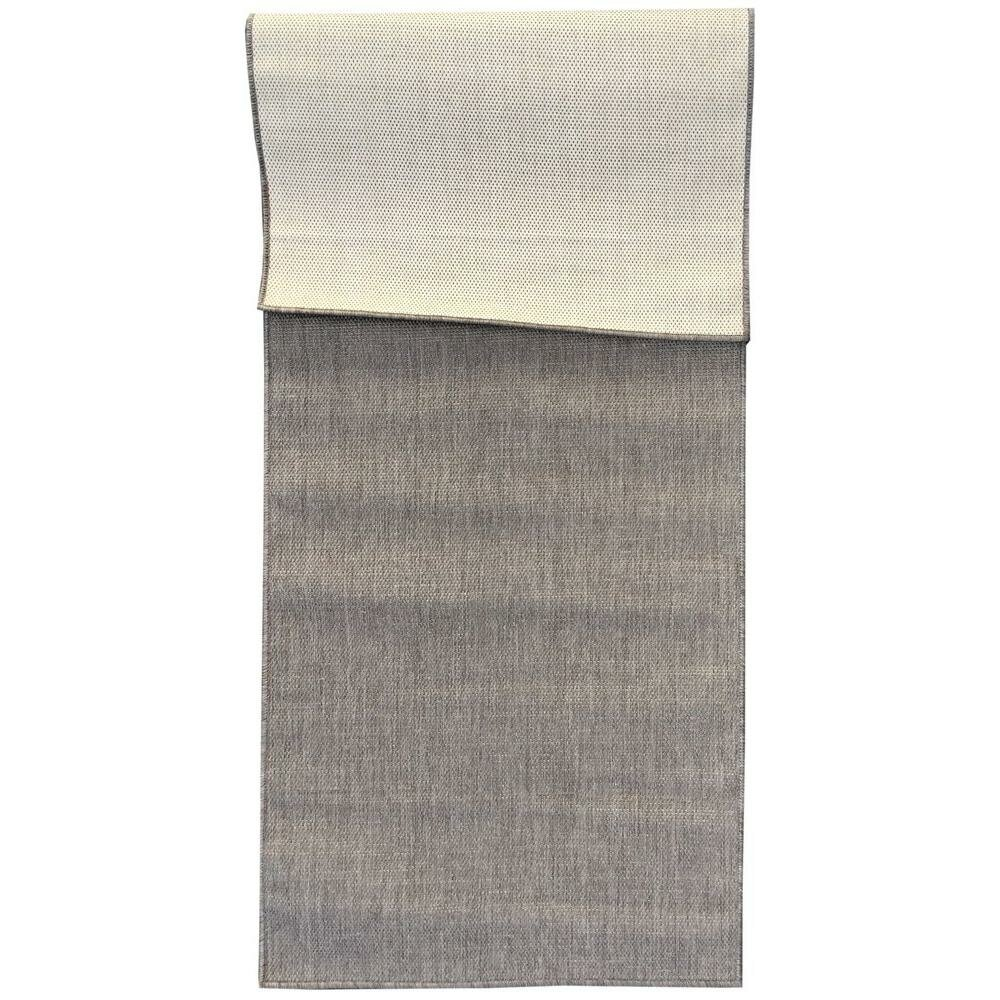 Berrnour Home Summer Gray Indoor Outdoor Area Rug