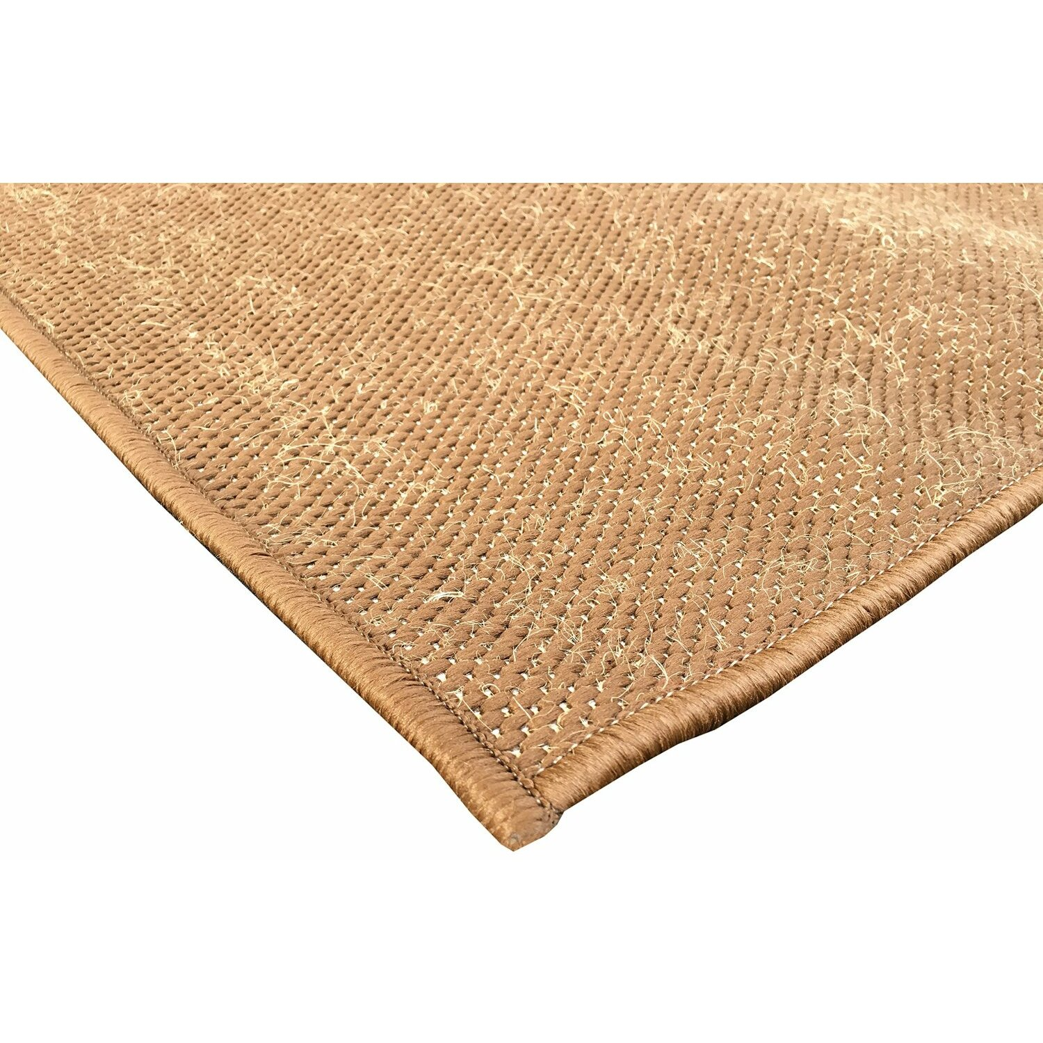 Berrnour home summer brown indoor outdoor area rug wayfair for Indoor outdoor runners rugs