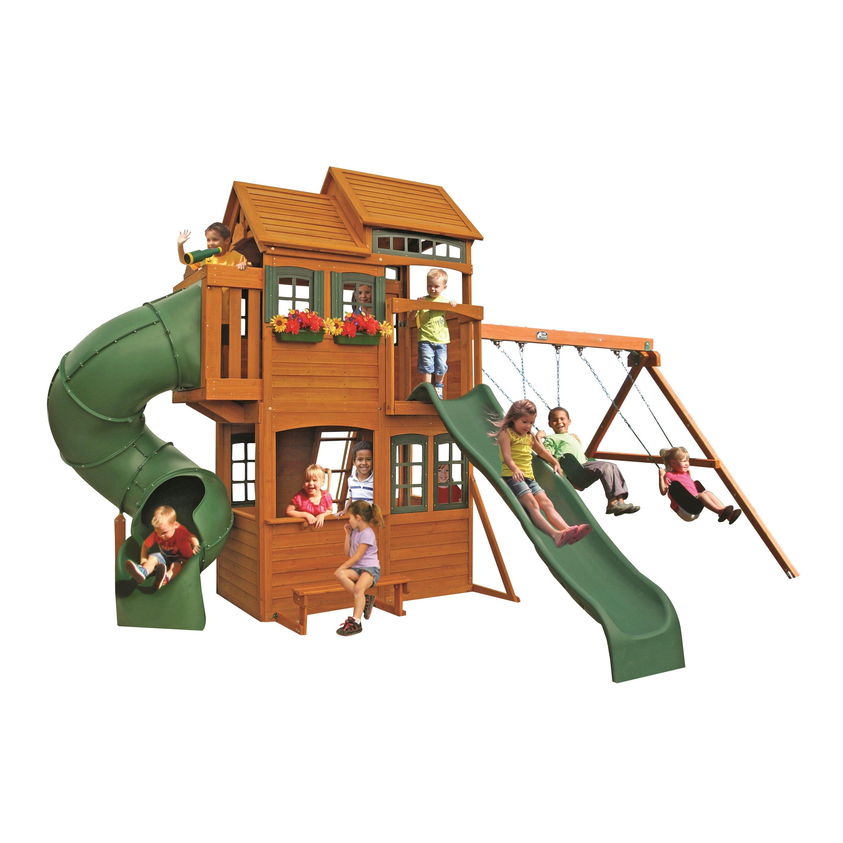 Cedar Summit Shelbyville Deluxe Wooden Swing Set Reviews