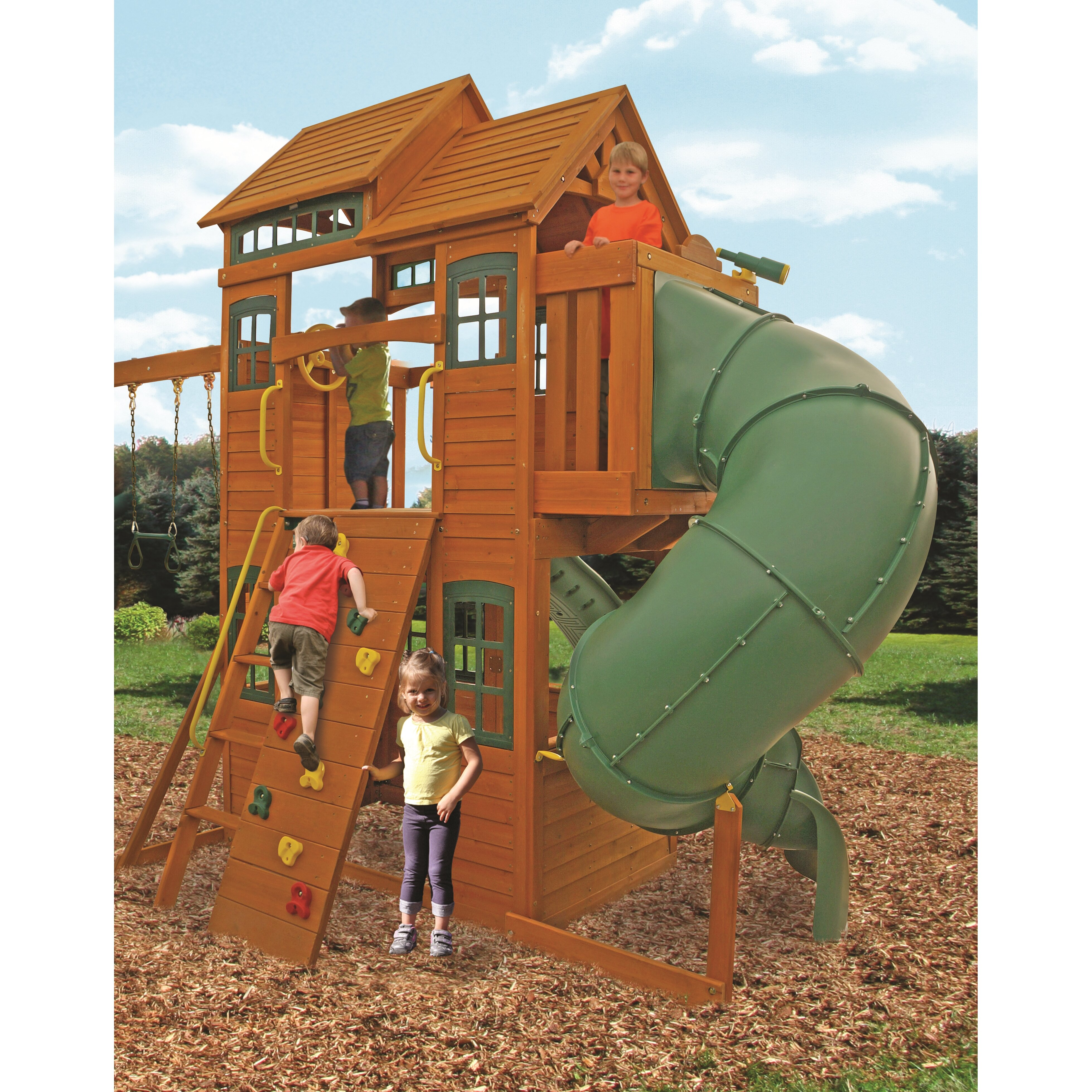 cedar summit shelbyville deluxe wooden swing set reviews. Black Bedroom Furniture Sets. Home Design Ideas